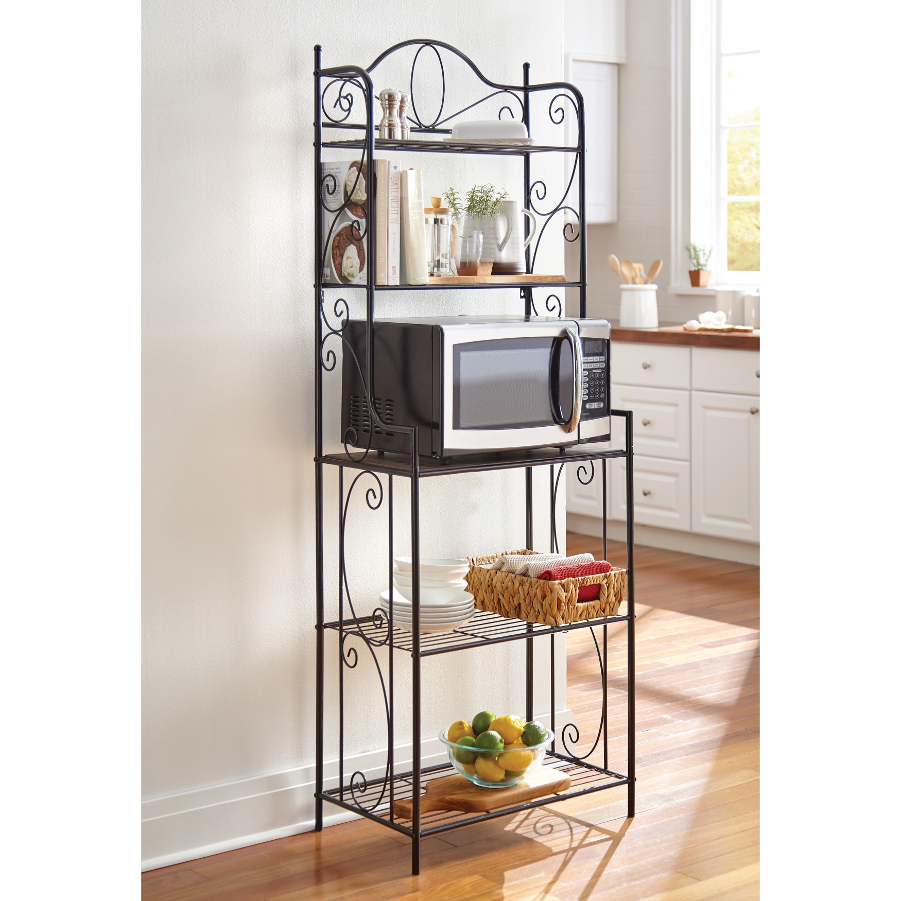 Scroll Baker's Rack, BLACK