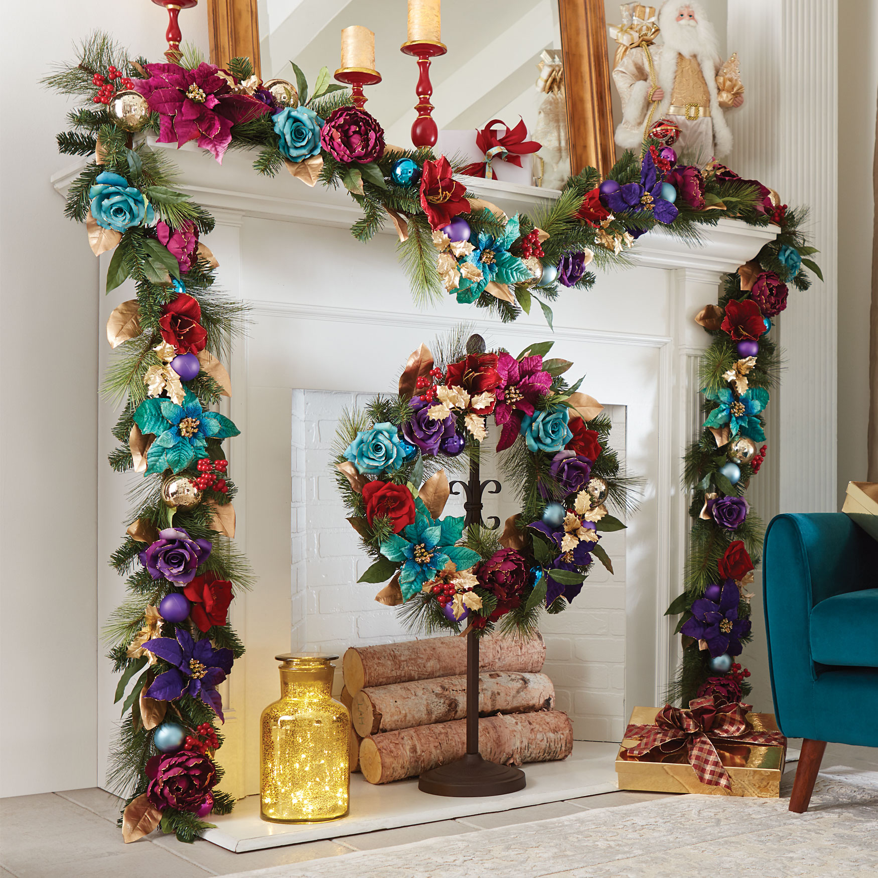 Jewel Tone Wreath,
