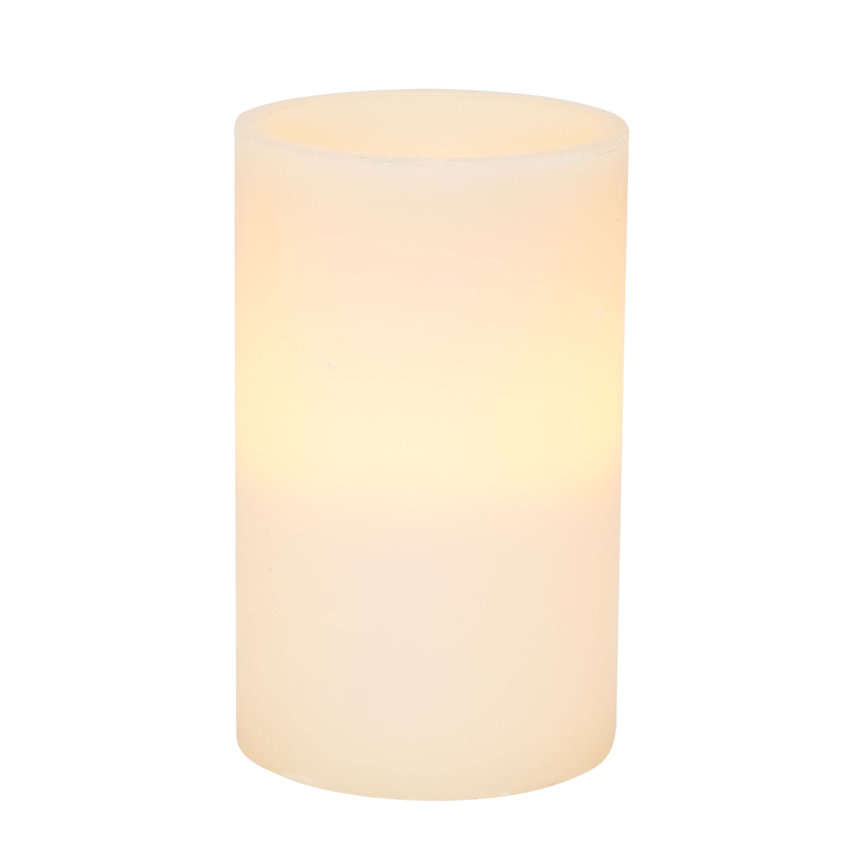 "5""Diam. x 8""H Battery Operated LED Candle , IVORY"