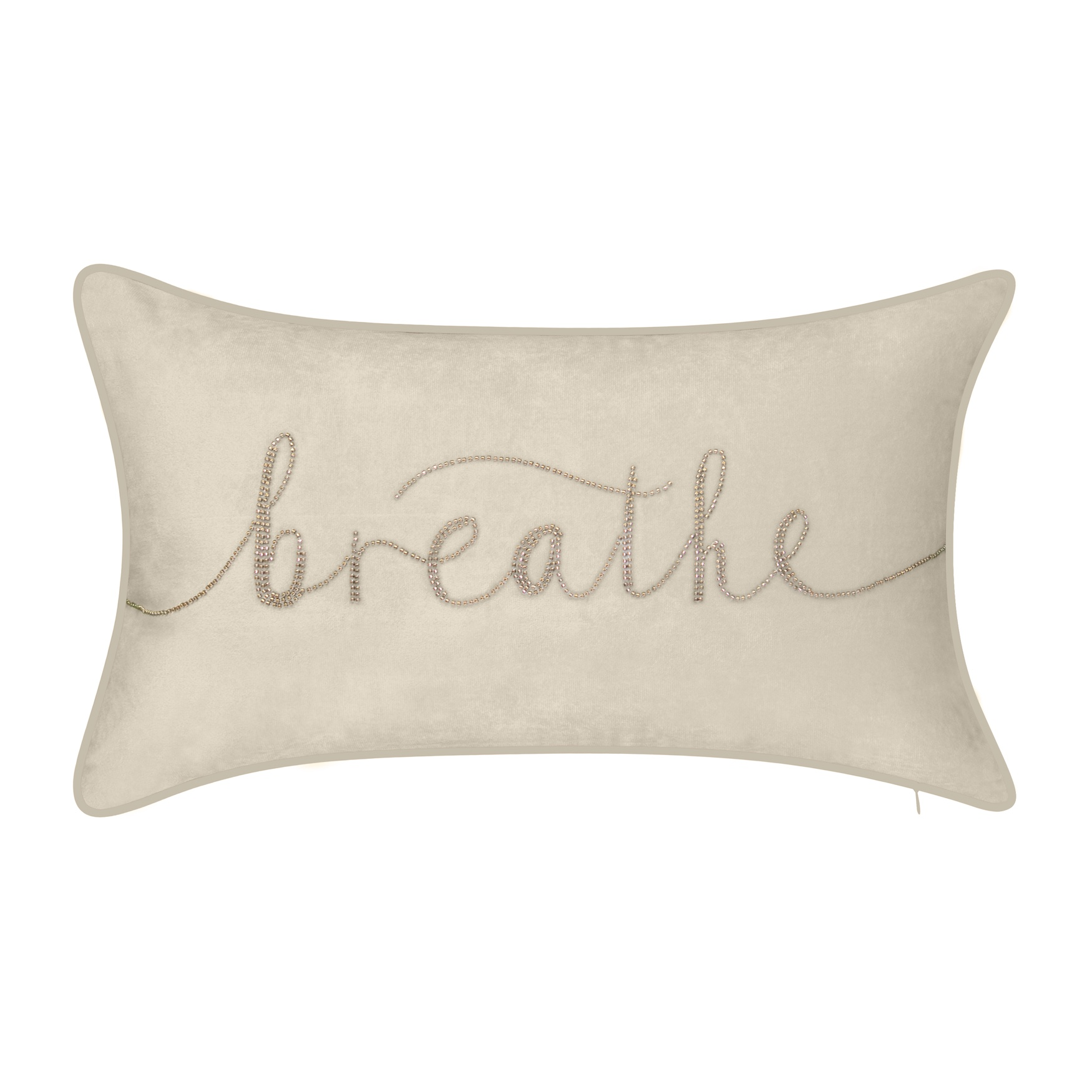 "Celebrations """"Breathe"""" Embroidered Decorative Pillow ,"