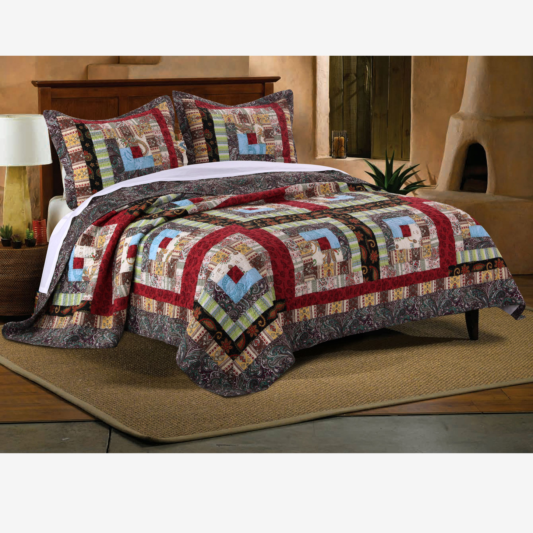 Colorado Lodge Quilt Set Greenland Home Fashions,