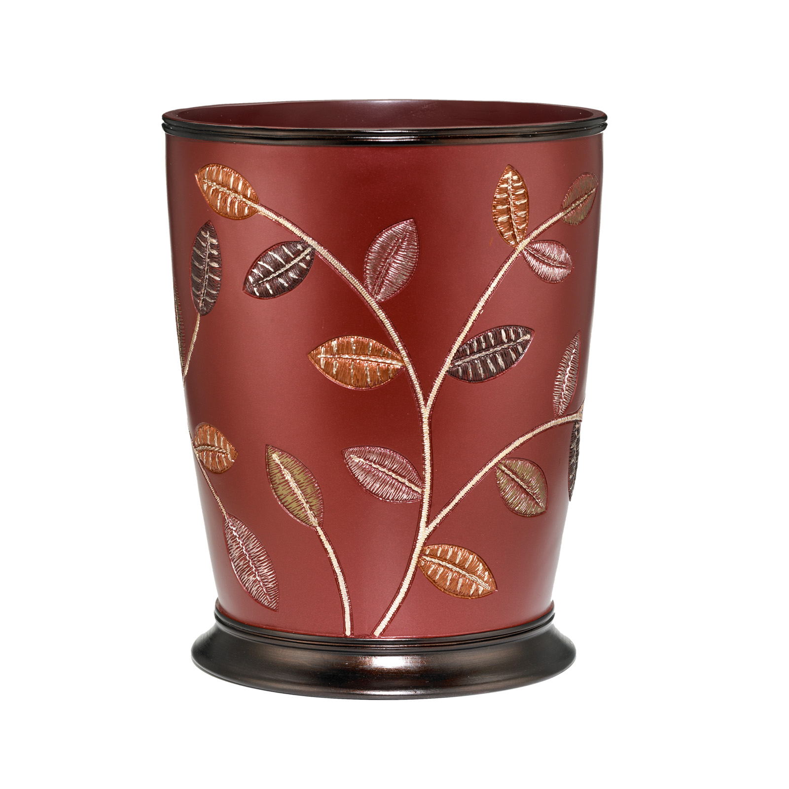 Aubury Waste Basket, BURGUNDY