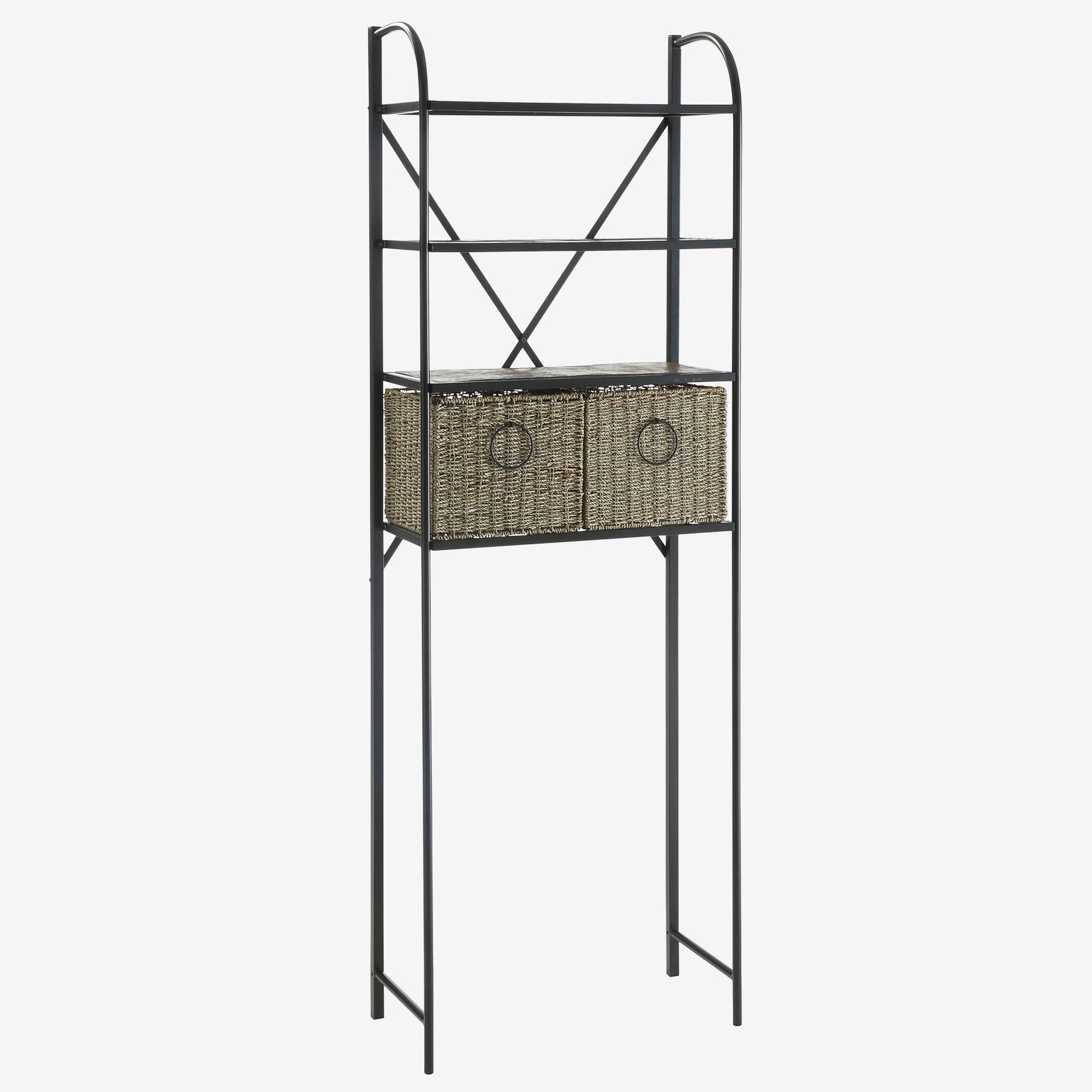 Windsor Spacesaver with Baskets, BLACK METAL