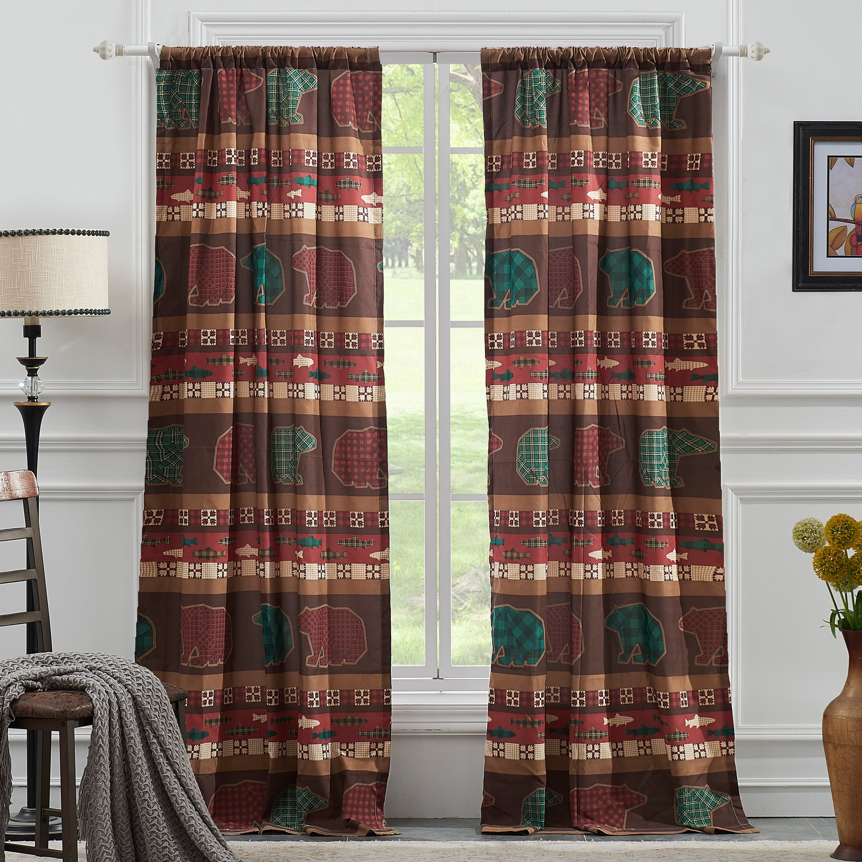 Canyon Creek Curtain Panel Pair by Greenland Home Fashions, MULTI