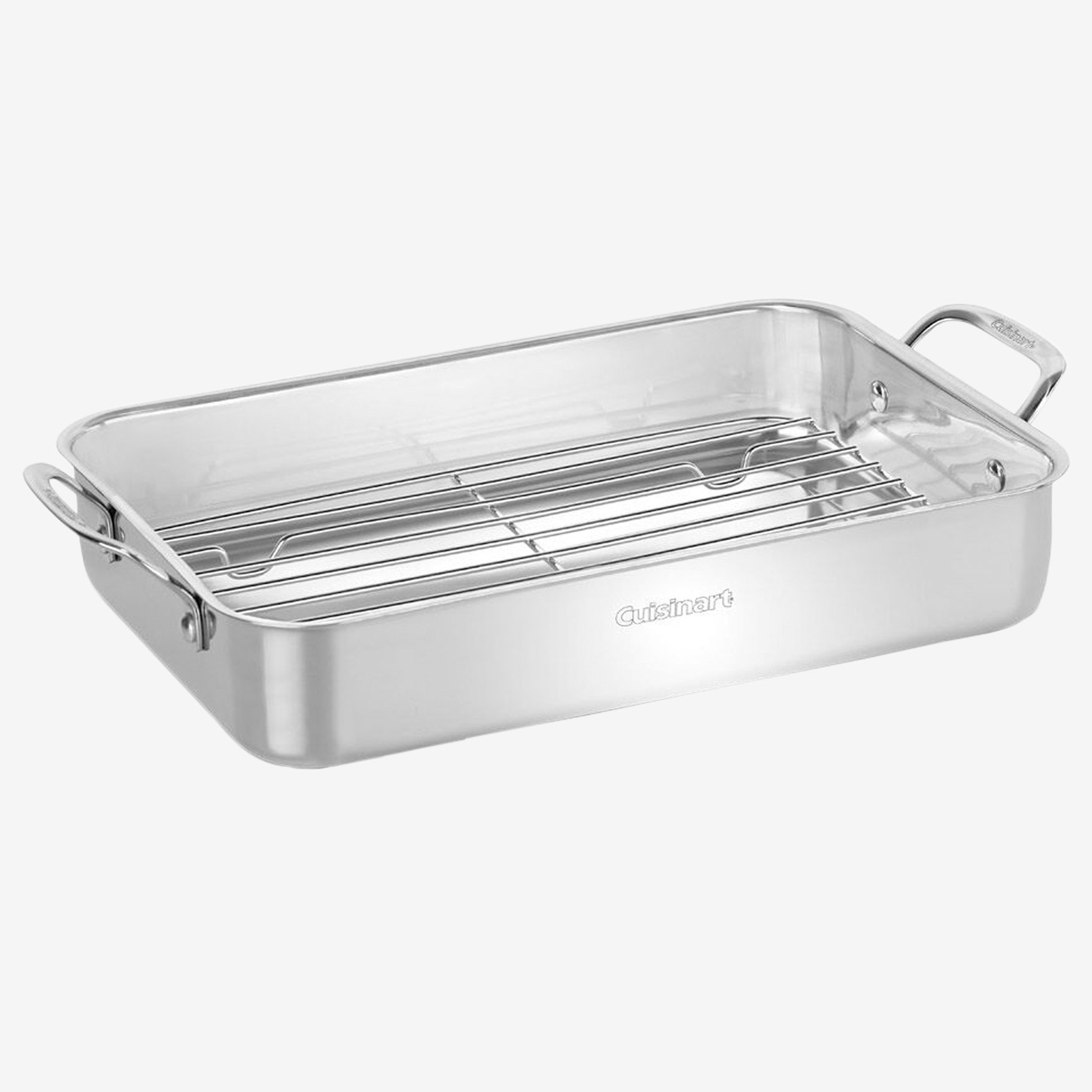 Cuisinart Lasagna Pan with Stainless Roasting Rack, STAINLESS STEEL