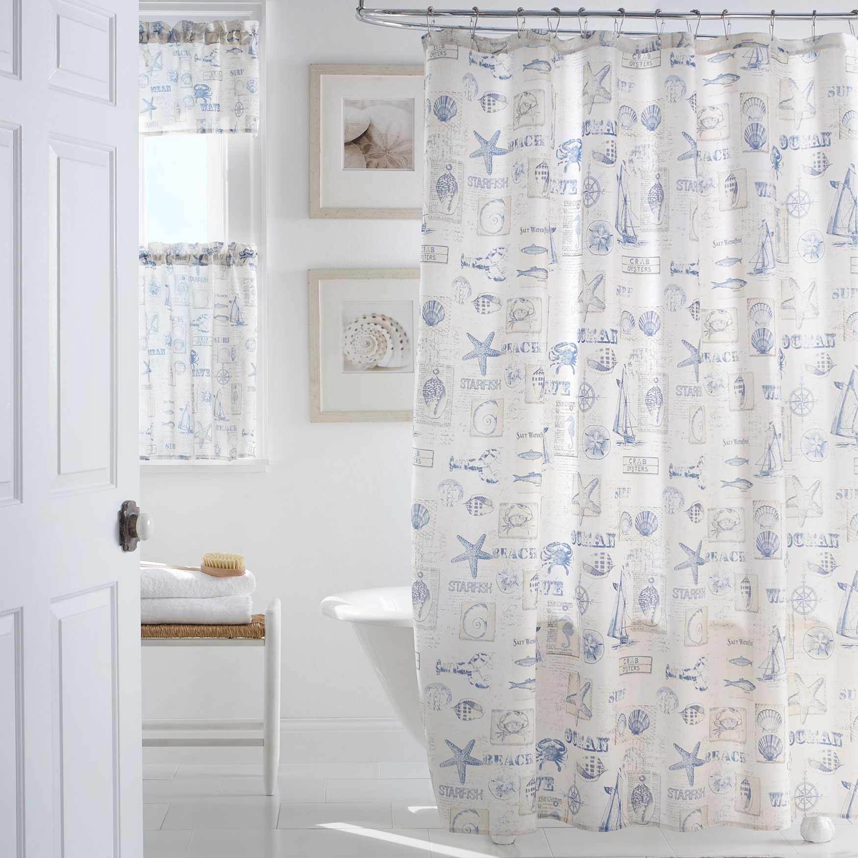 By The Sea Shower Curtain, BLUE