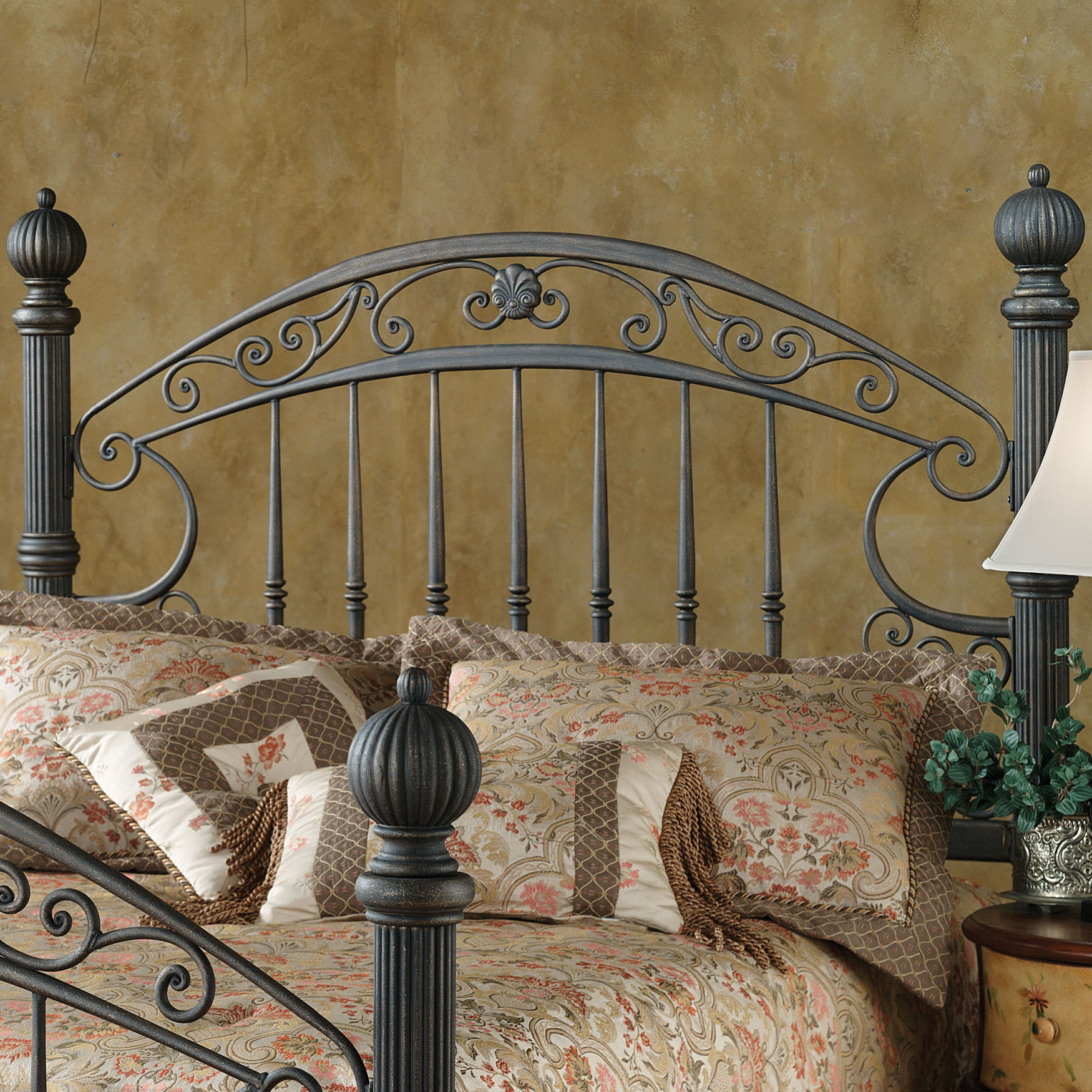 "Queen Headboard with Headboard Frame, 71½""Lx67""Wx66¼""H, BROWN"