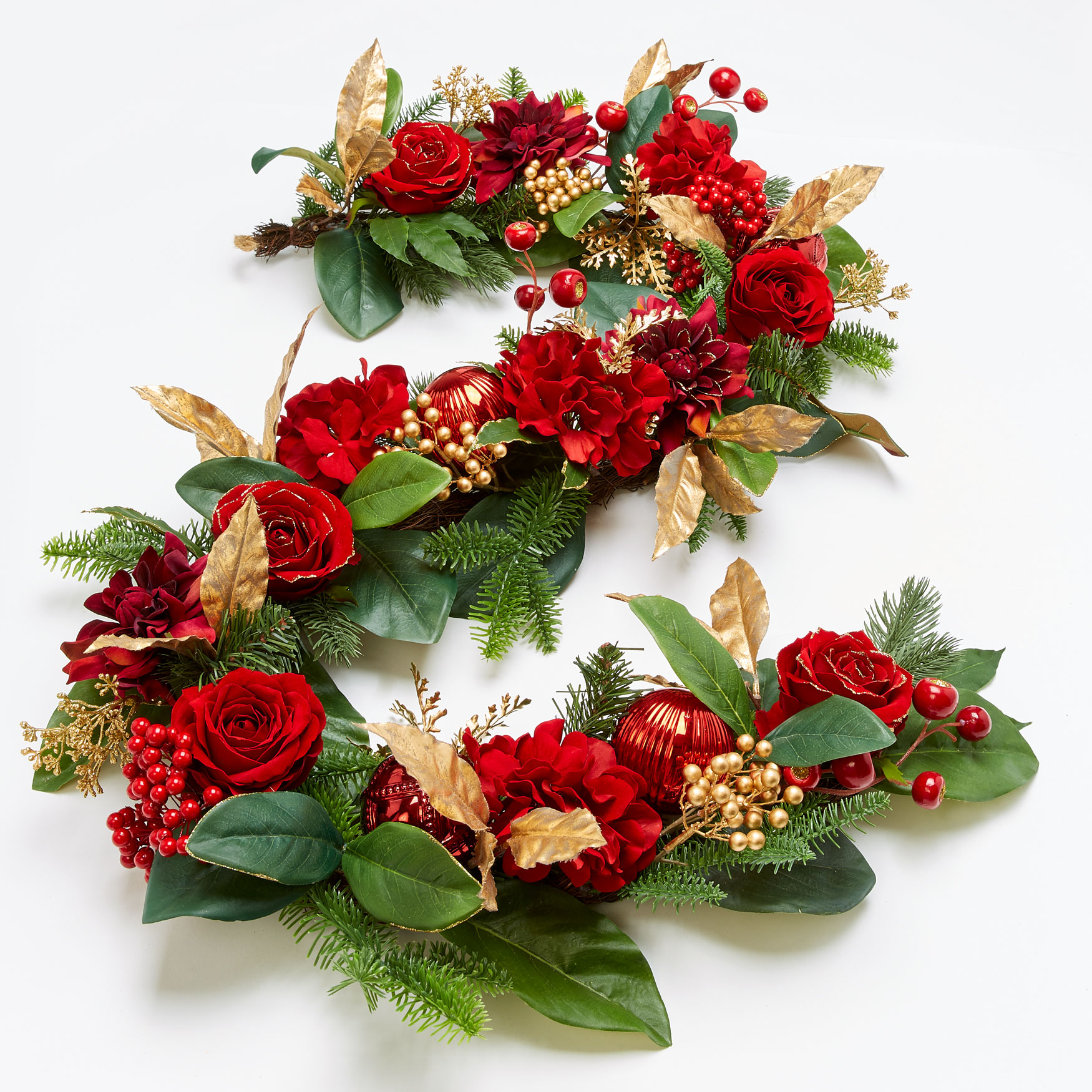 Royalty 6' Garland, RED GOLD