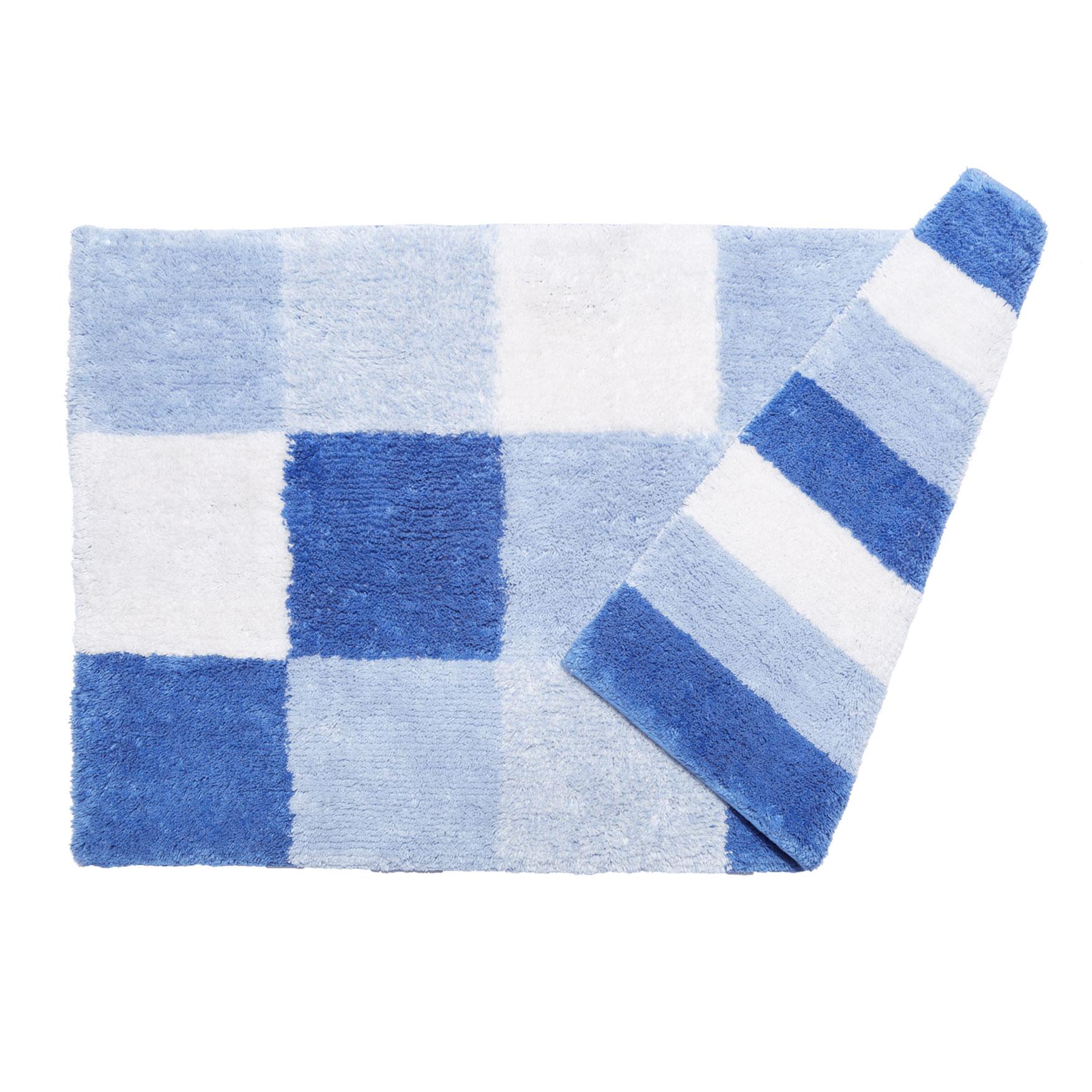 Reversible Bathroom Mats: Colorblock Reversible Bath Rug