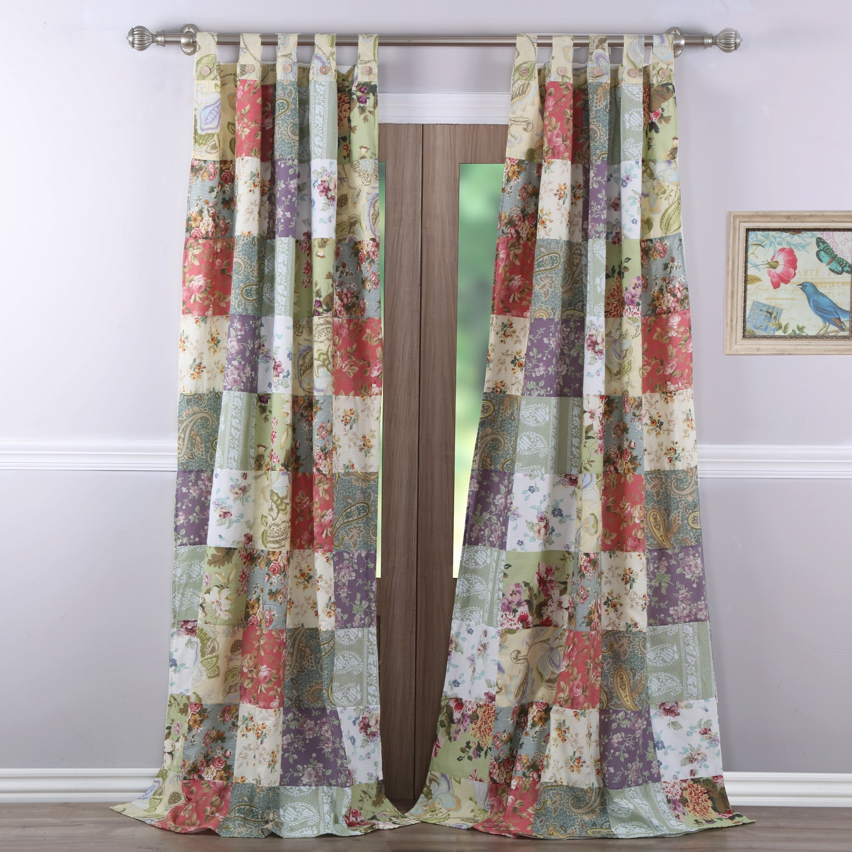 Blooming Prairie Curtain Panel Pair by Greenland Home Fashions, MULTI