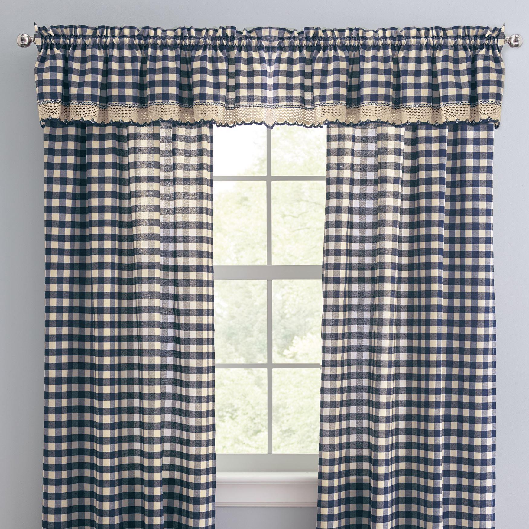 Buffalo plaid window collection