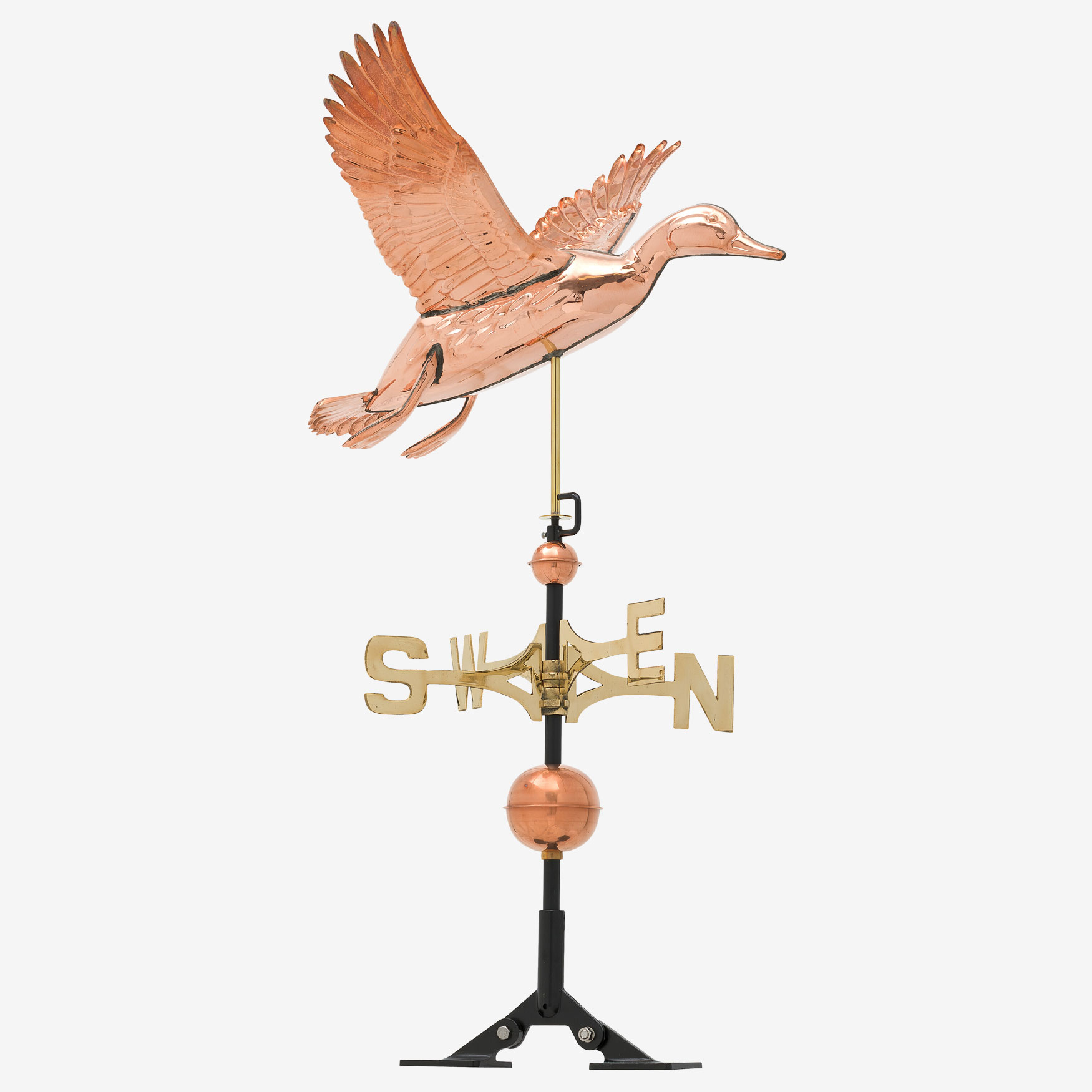 Copper Duck Weathervane ,