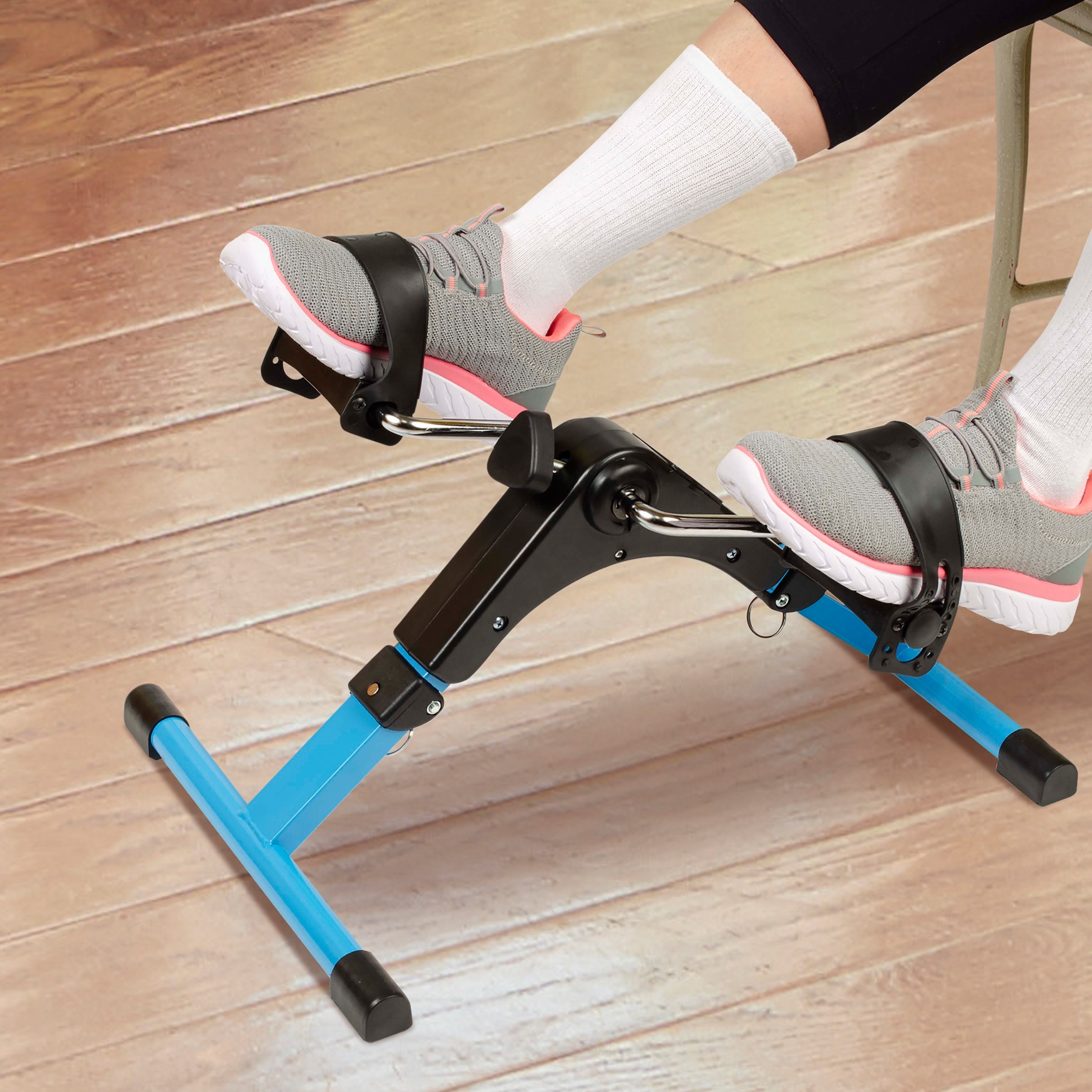 Hometrack™ Folding Pedal Exerciser, BLACK BLUE