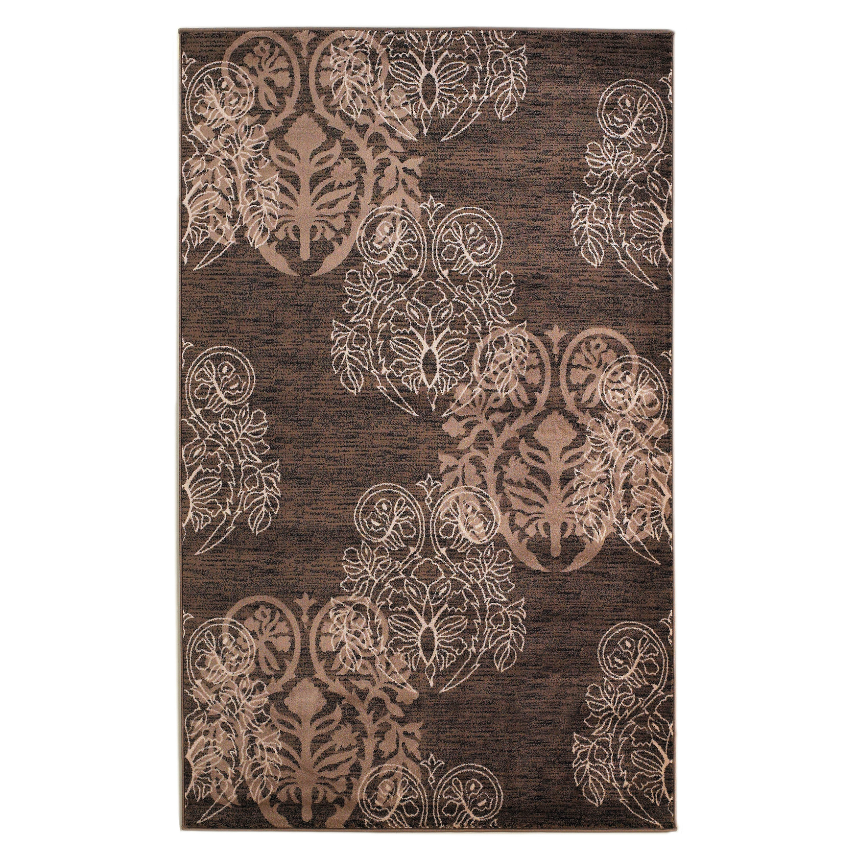 Milan Brown/Beige 2'X3' Area Rug, BROWN BEIGE