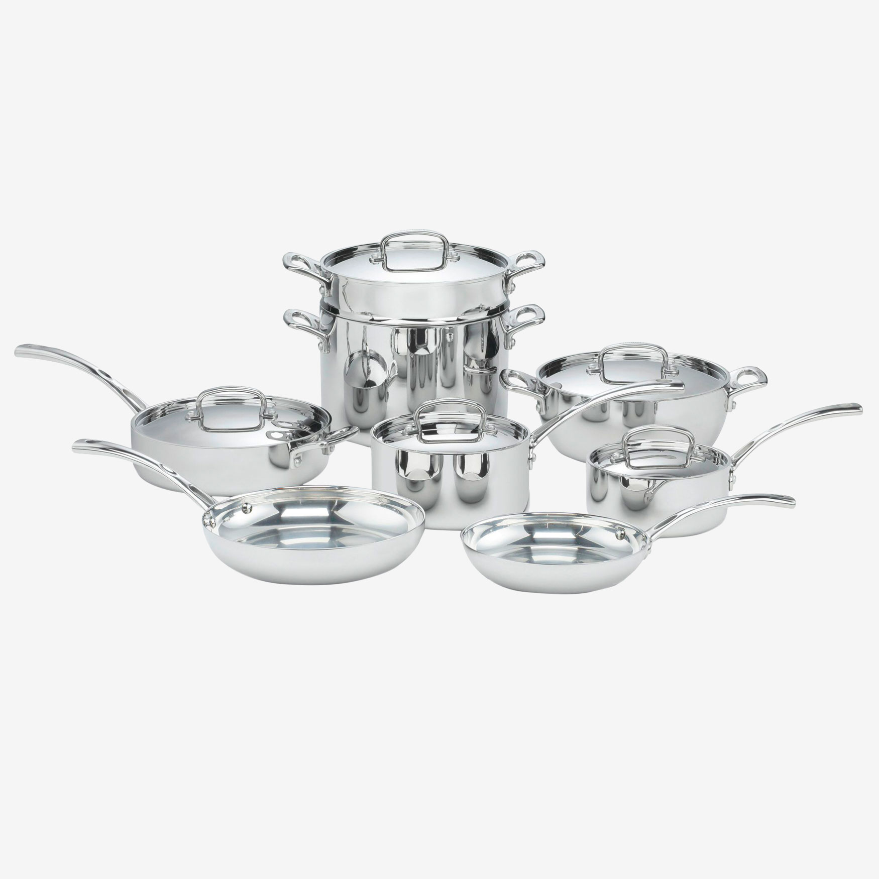 Cuisinart French Classic Tri-Ply Stainless 13-Pc. Cookware Set, STAINLESS STEEL