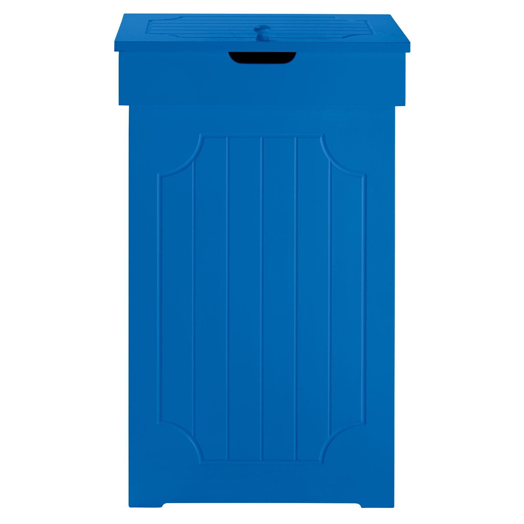 Cottage Kitchen Trash Can Lapis Blue