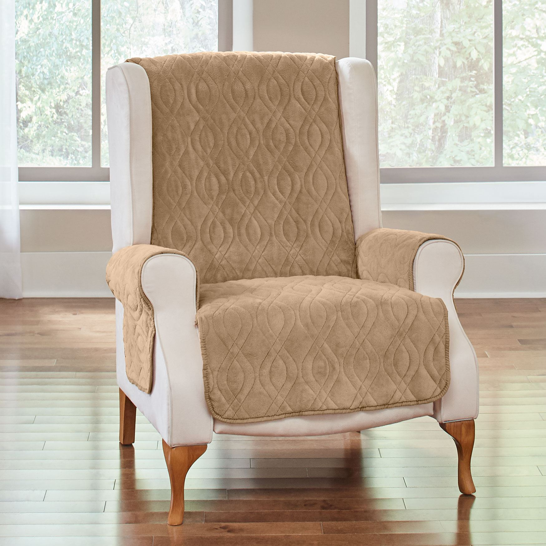 Plush Ultimate Wing Chair Protector,