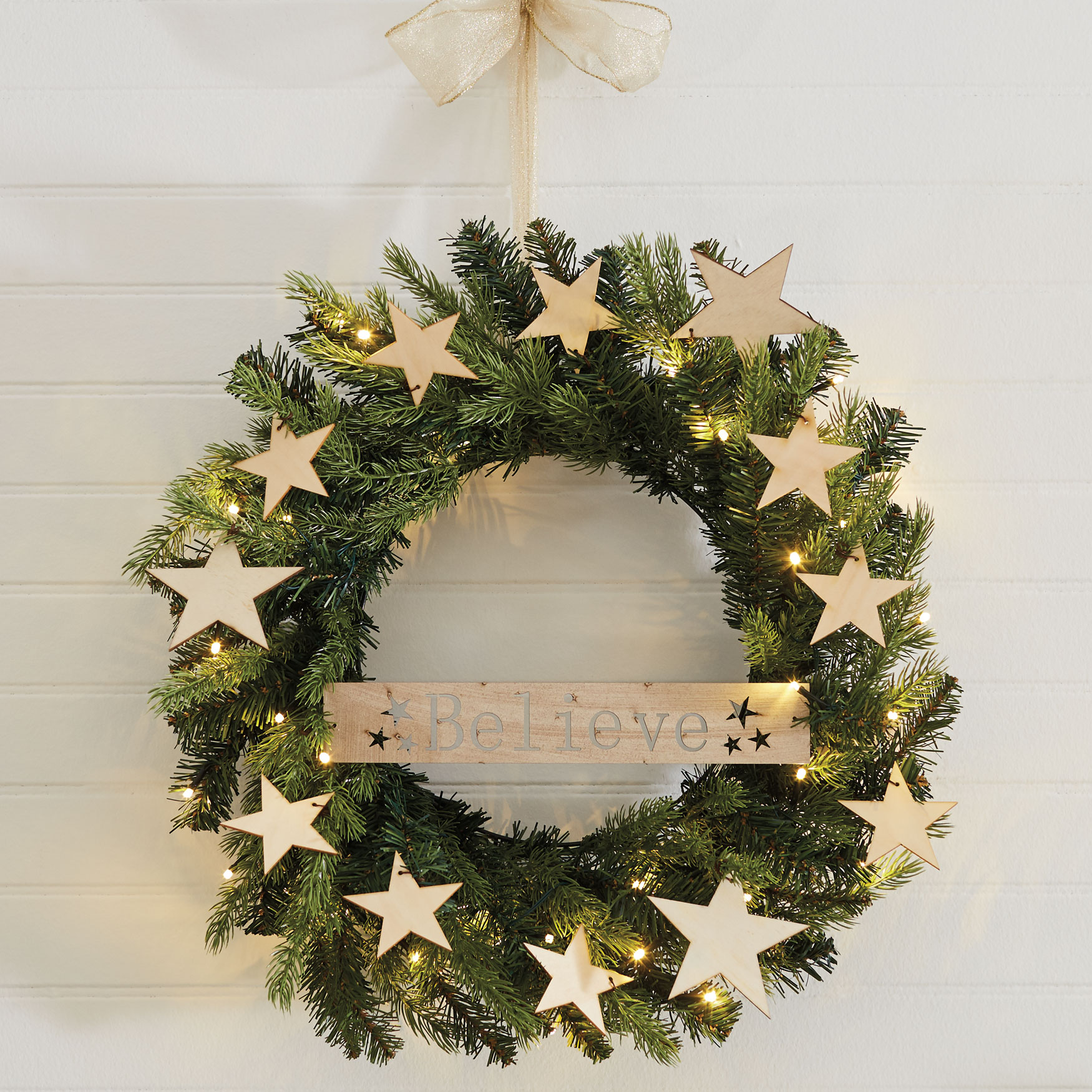 Believe Holiday Wreath, GREEN