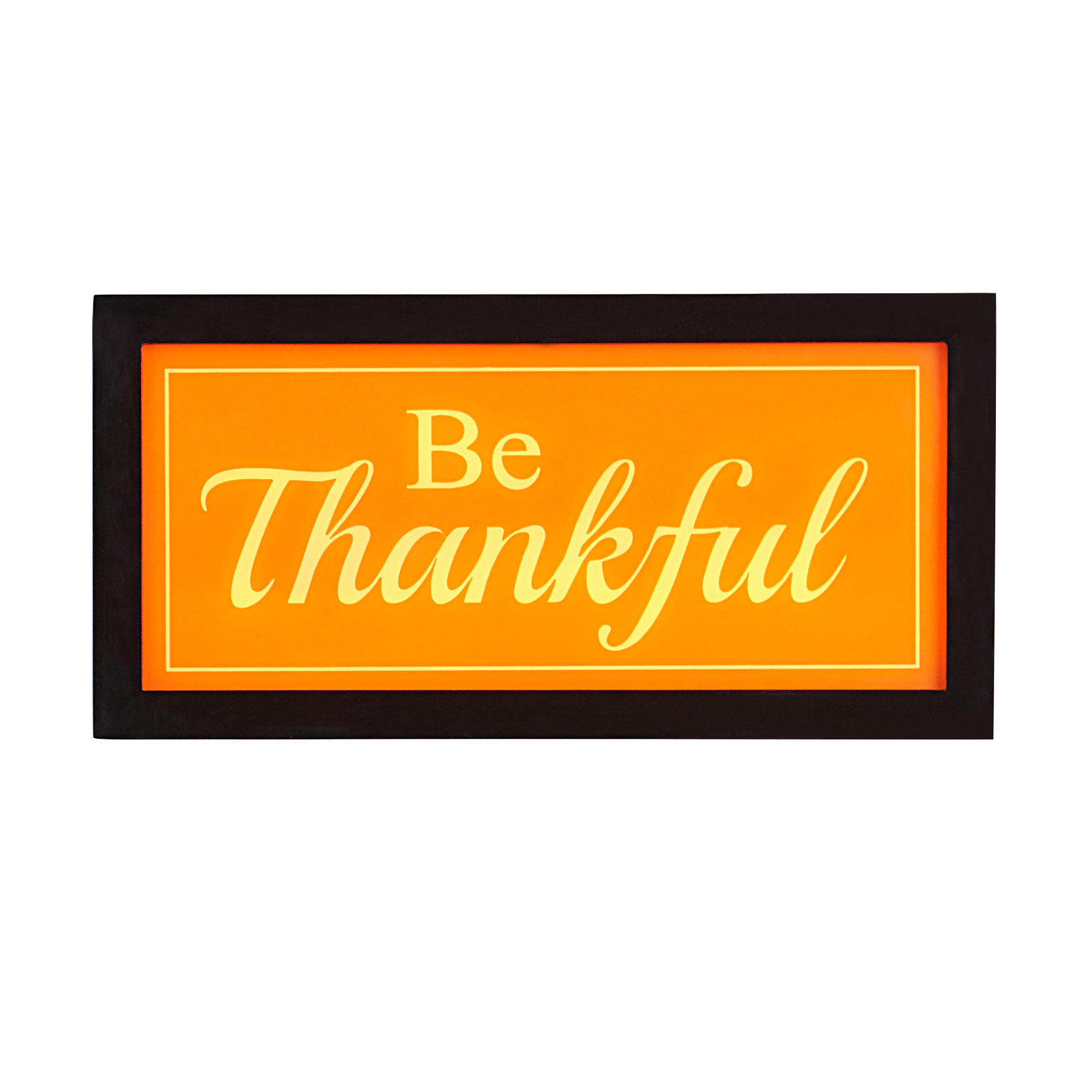 Be Thankful Light Box, ORANGE