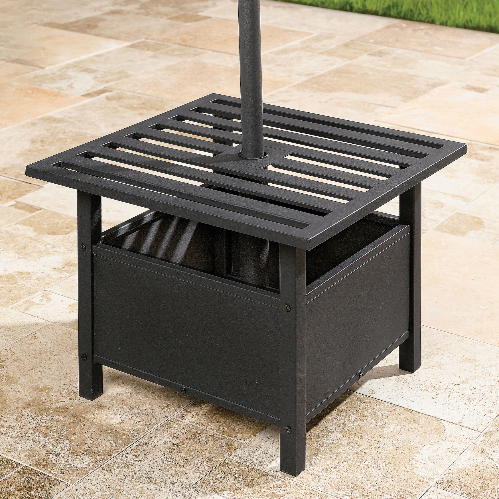 Umbrella Stand Side Table Plus Size Umbrellas Amp Bases