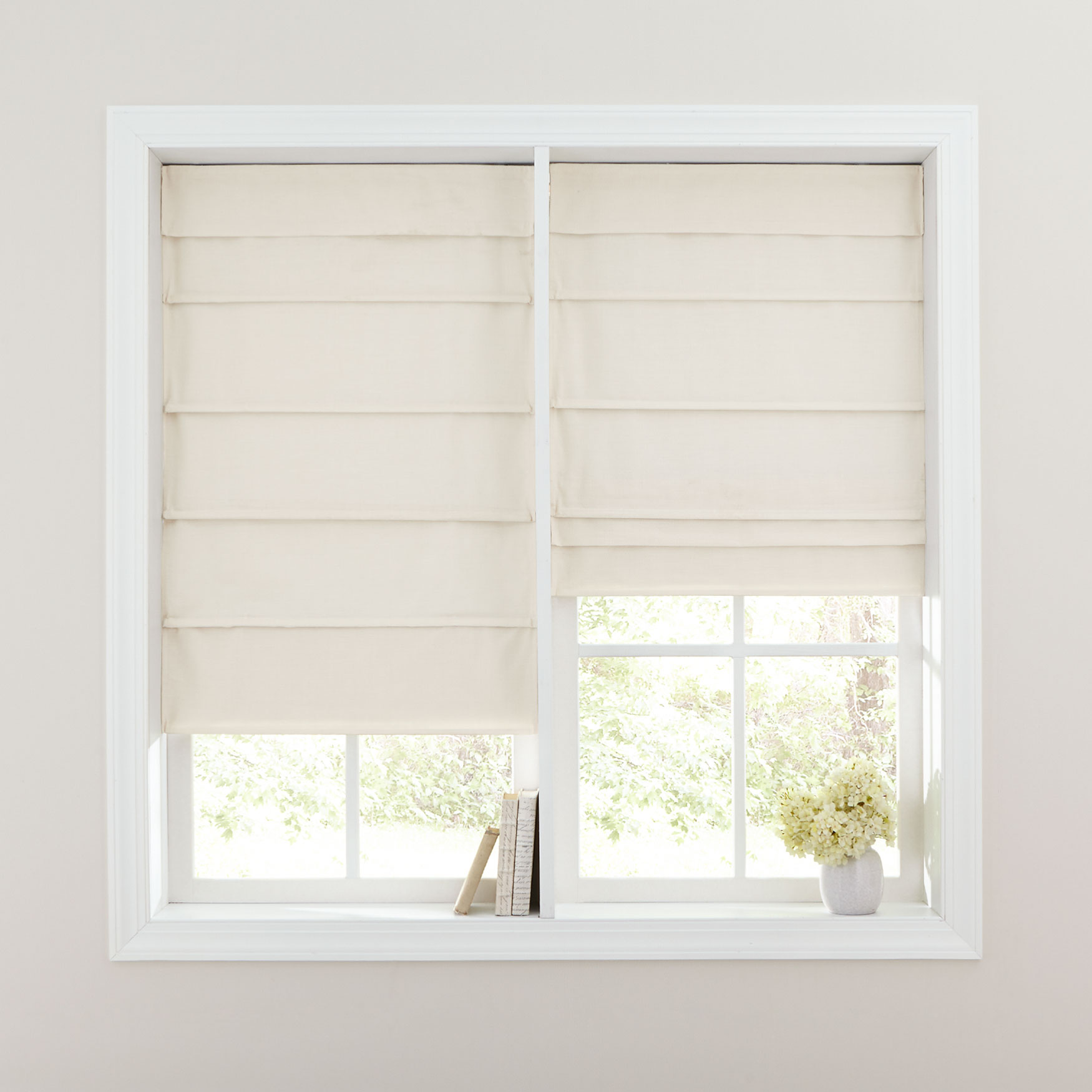 Cordless Large Fold Textured Roman Shade Plus Size Blinds Shades