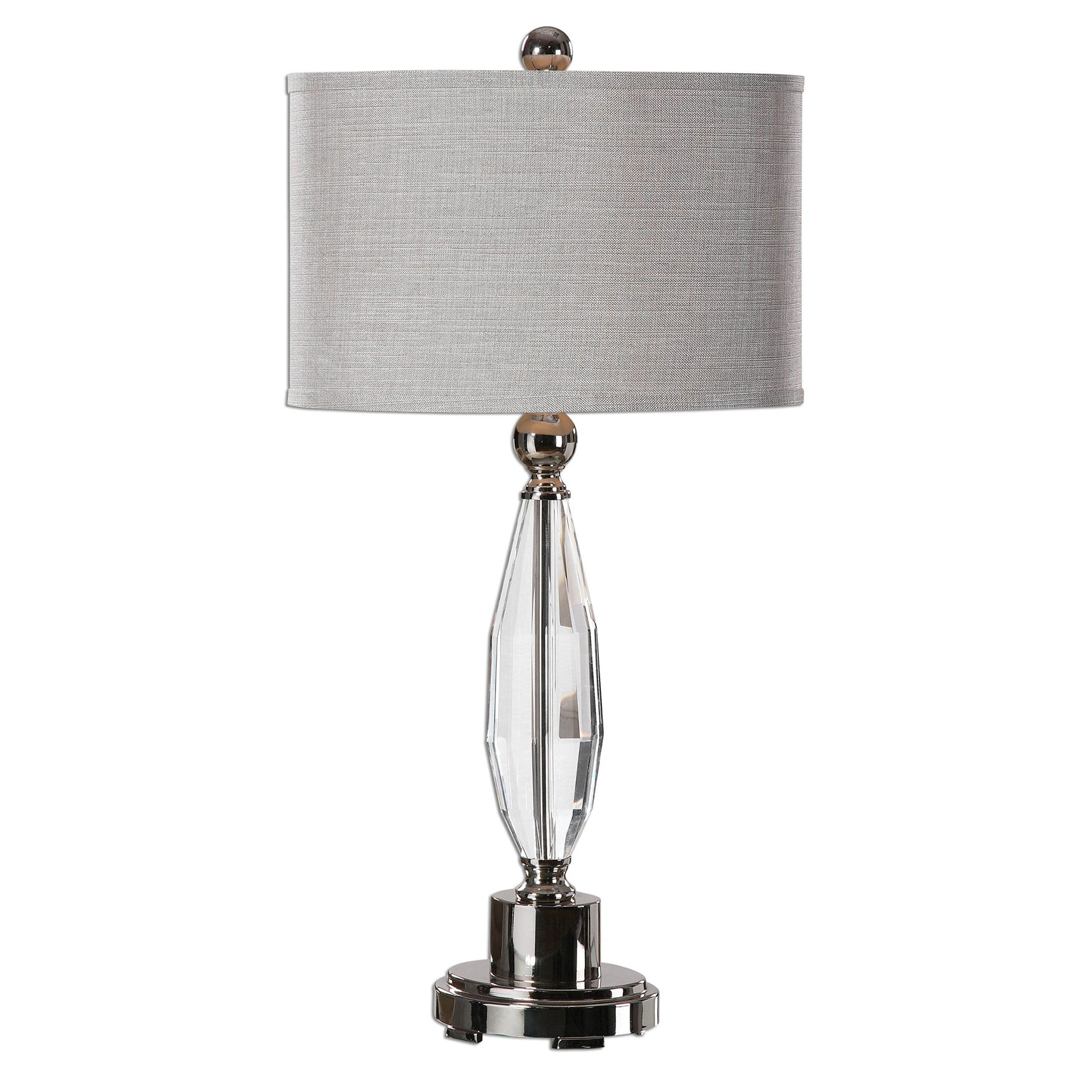 Torlino Cut Crystal Lamp, NICKEL