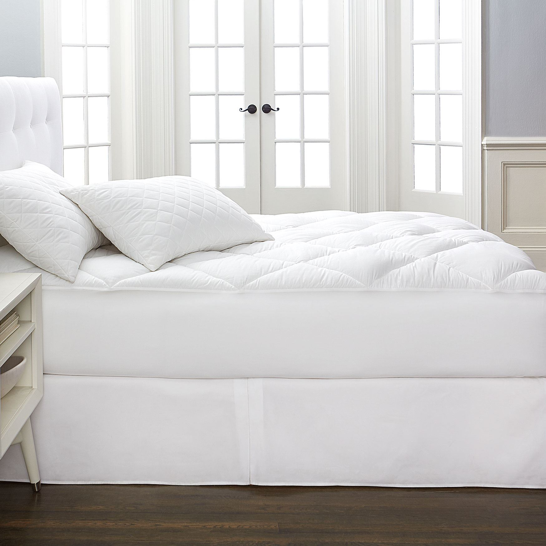 Cotton Collection Reversible Mattress Topper,