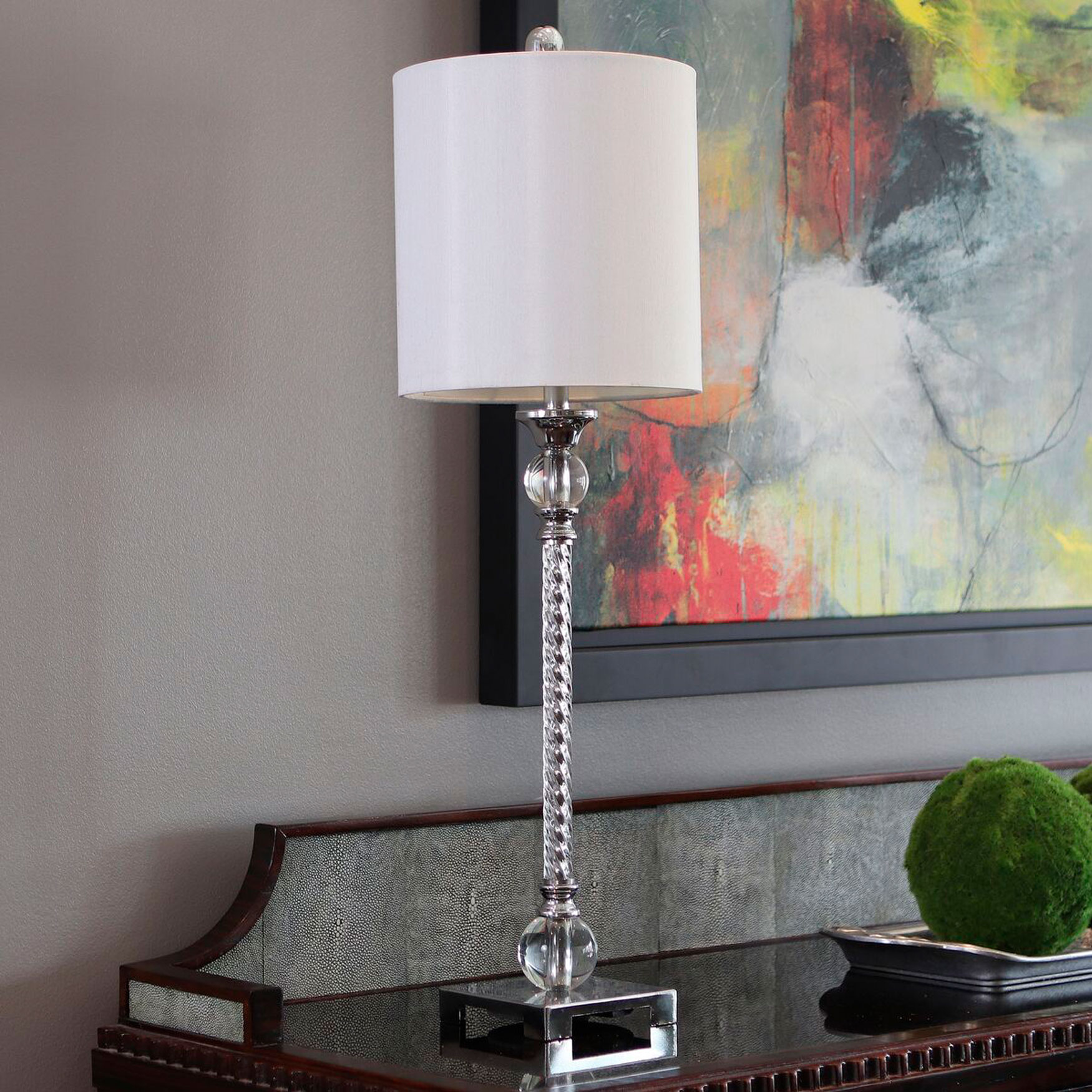 Camilla Buffet Lamp, CHROME