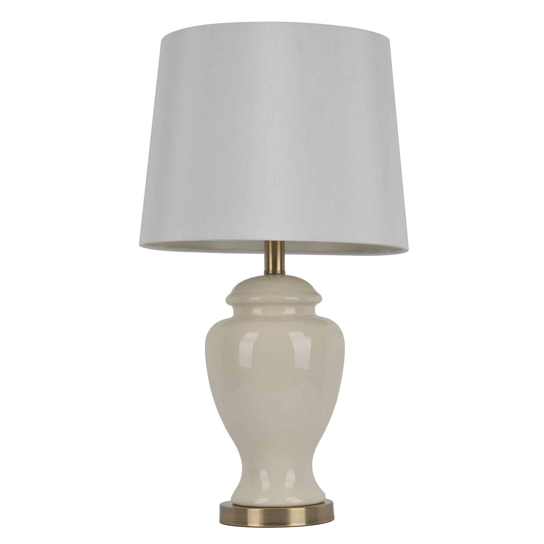 "24"" Cream Ceramic Table Lamp, CREAM"