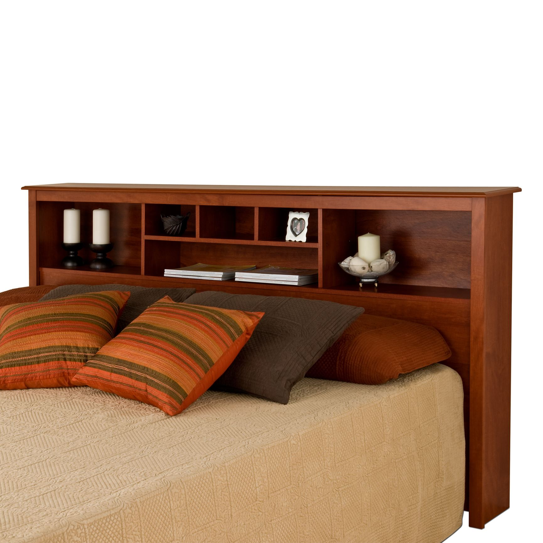 Monterey Cherry King Bookcase Headboard, CHERRY