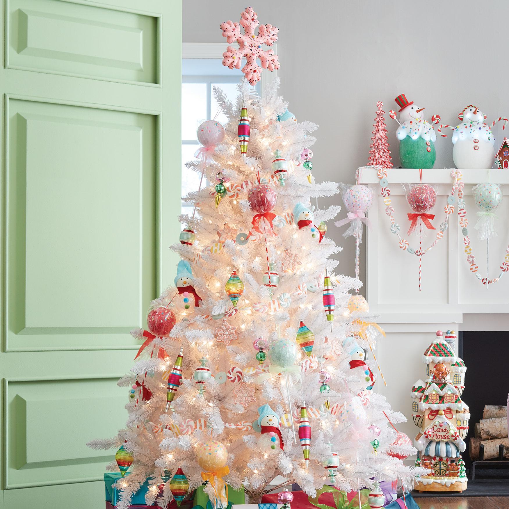 6½ Pre-Lit White Tree | Brylane Home