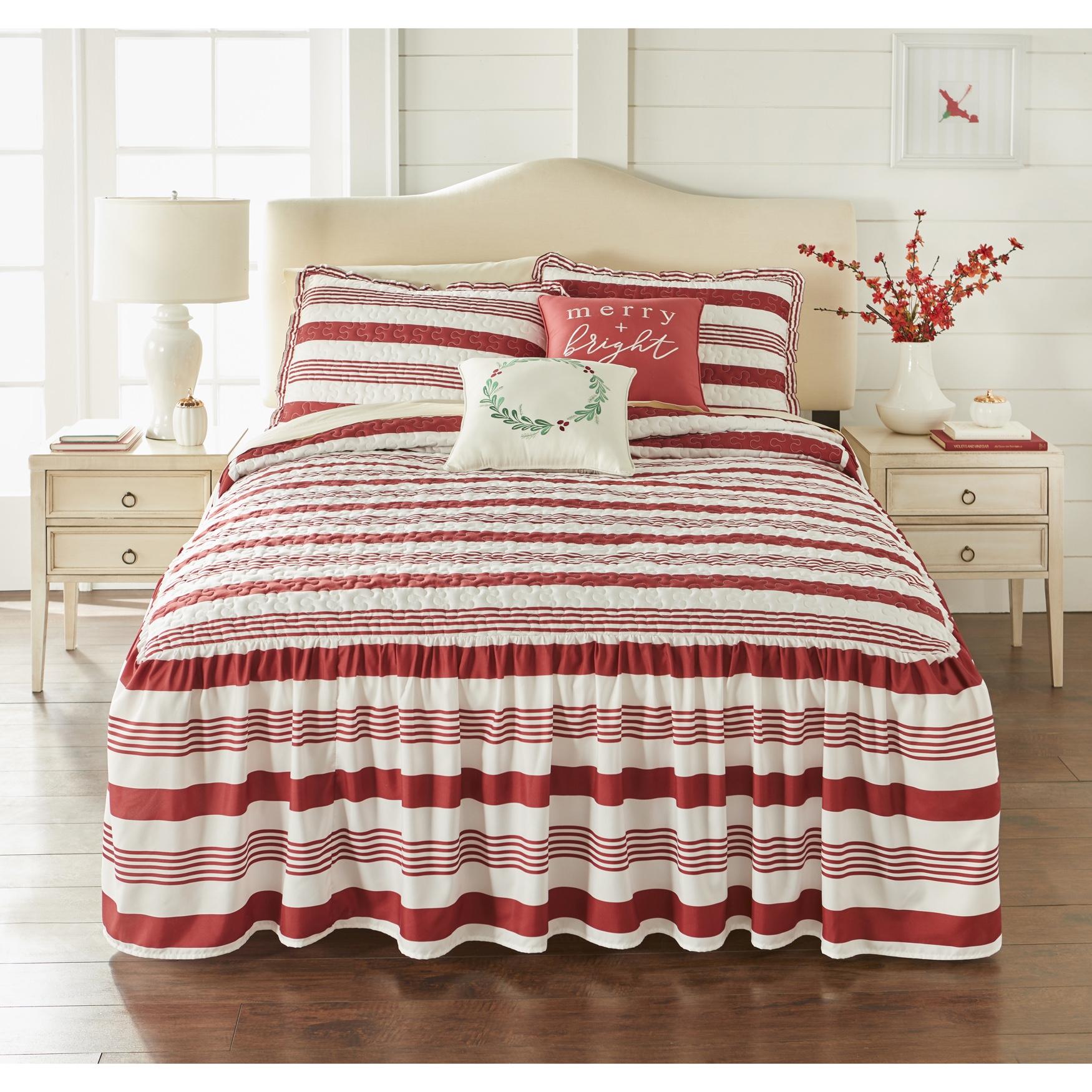 Bedspread Set BrylaneHome Farmhouse Flounce 5-Pc