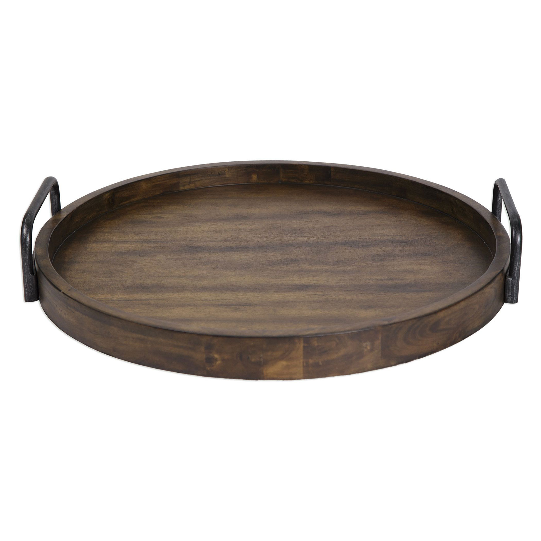 Reine Round Wooden Tray, WOOD