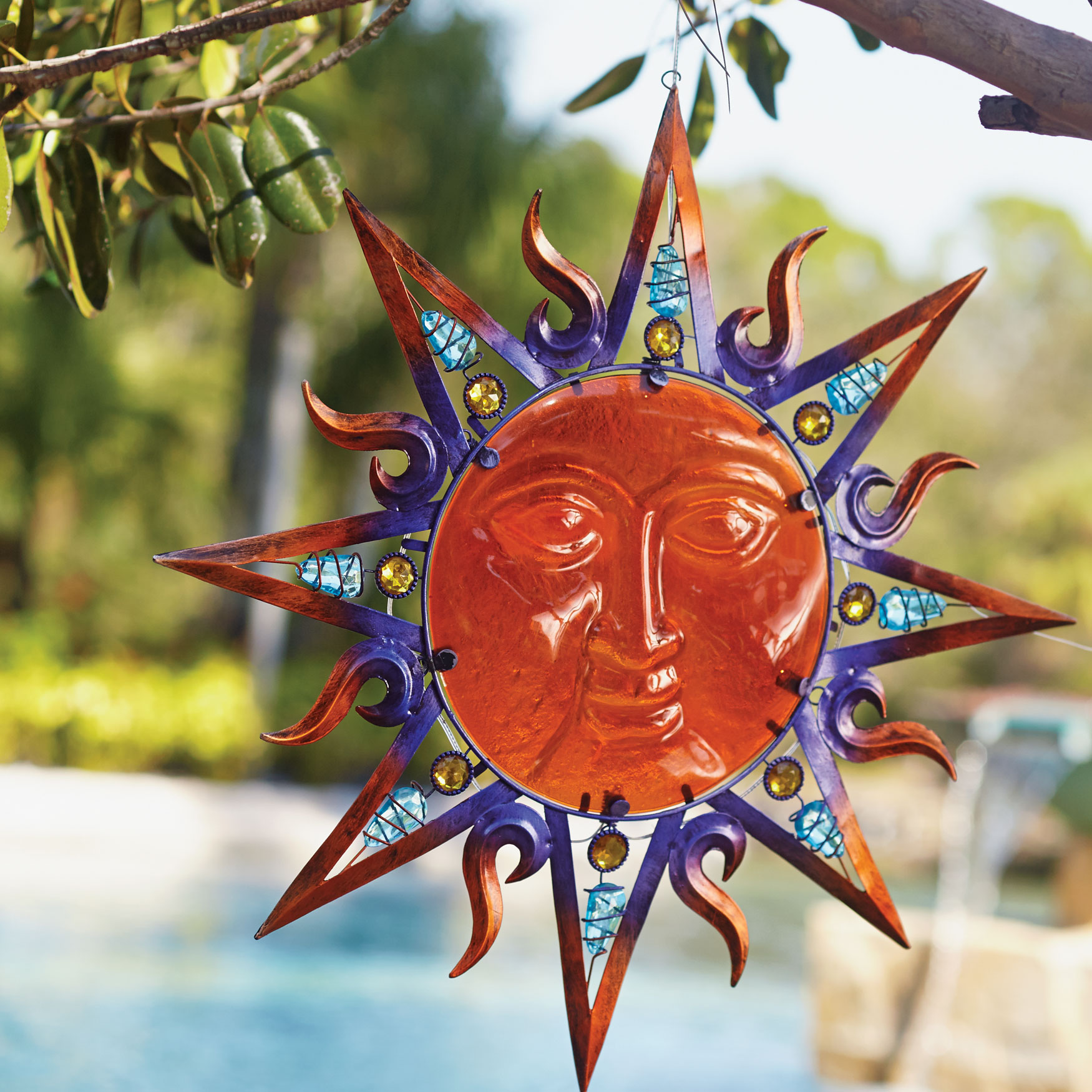 Solar Sun Hanging Art, MULTI