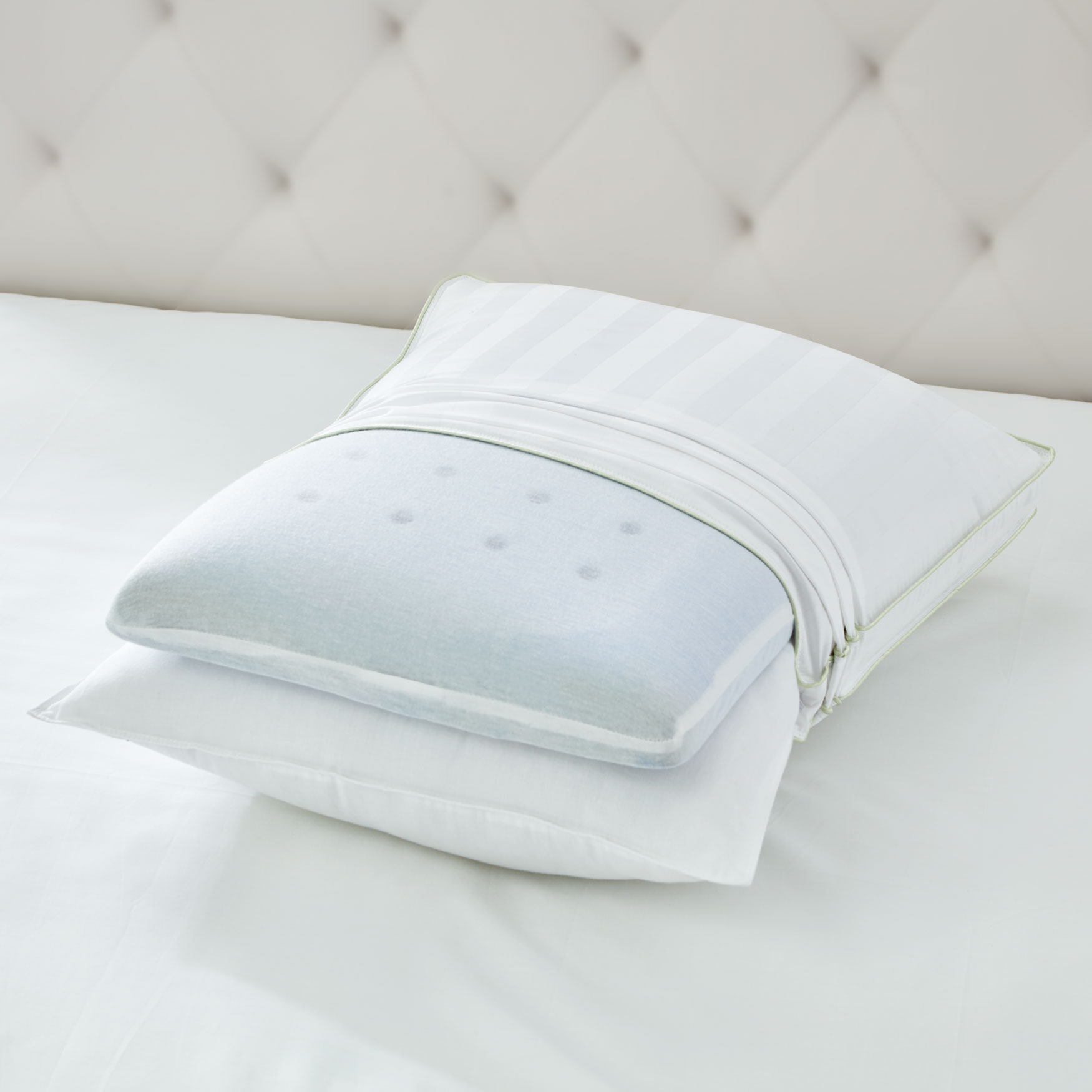 Dual Comfort Support Pillow, WHITE