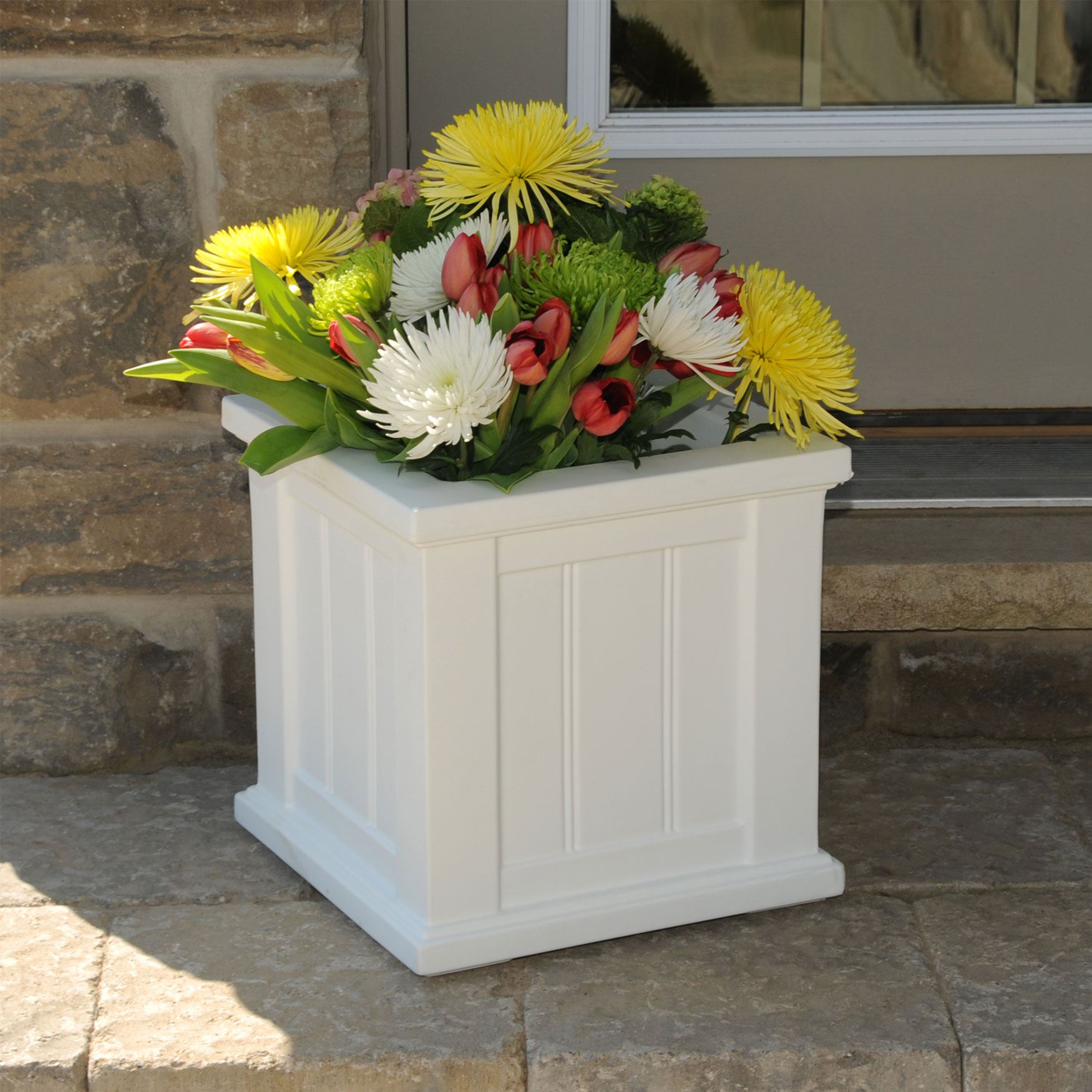"14""Sq. Cape Cod Patio Planter,"