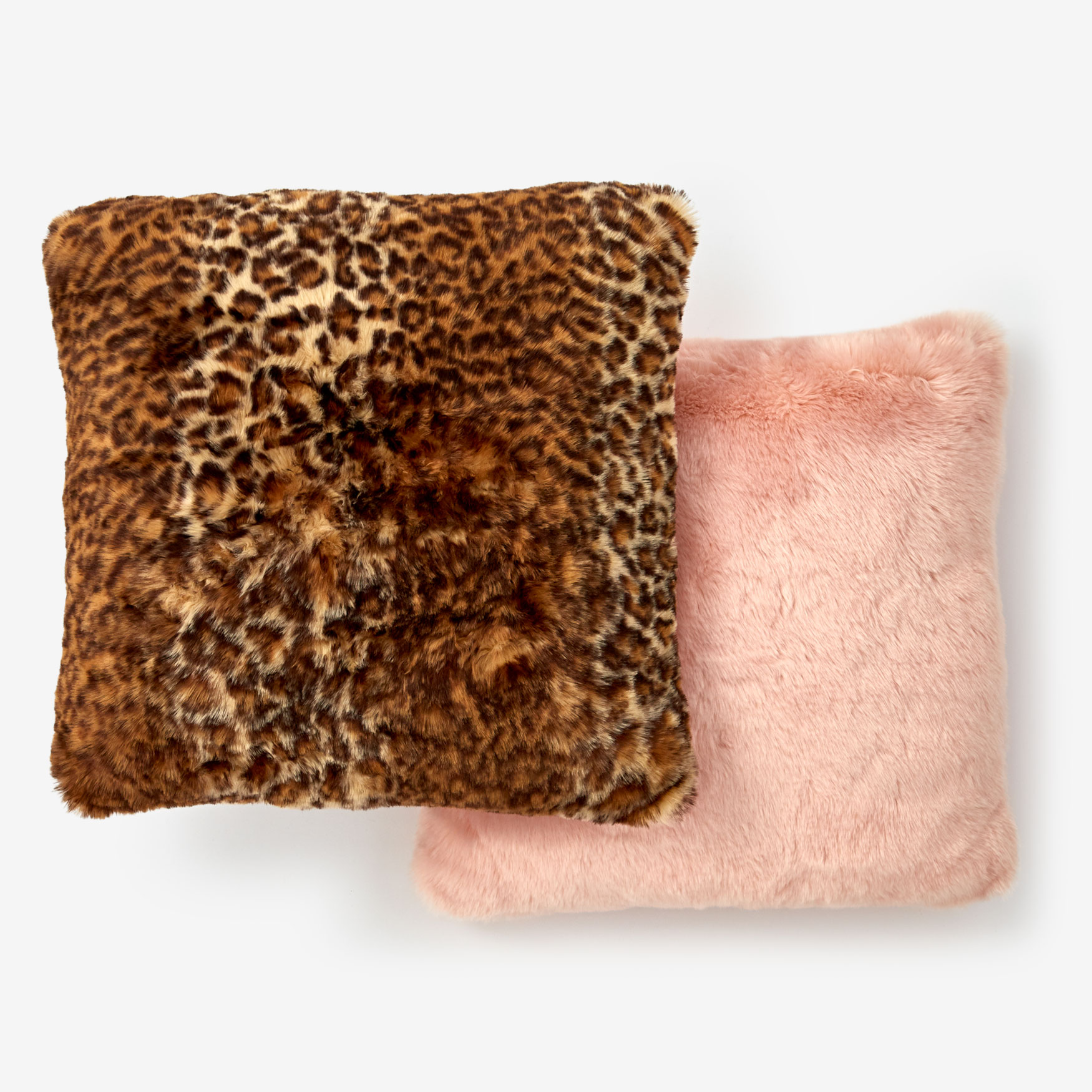 "Faux Fur Luxe 18"" Square Pillow Cover,"