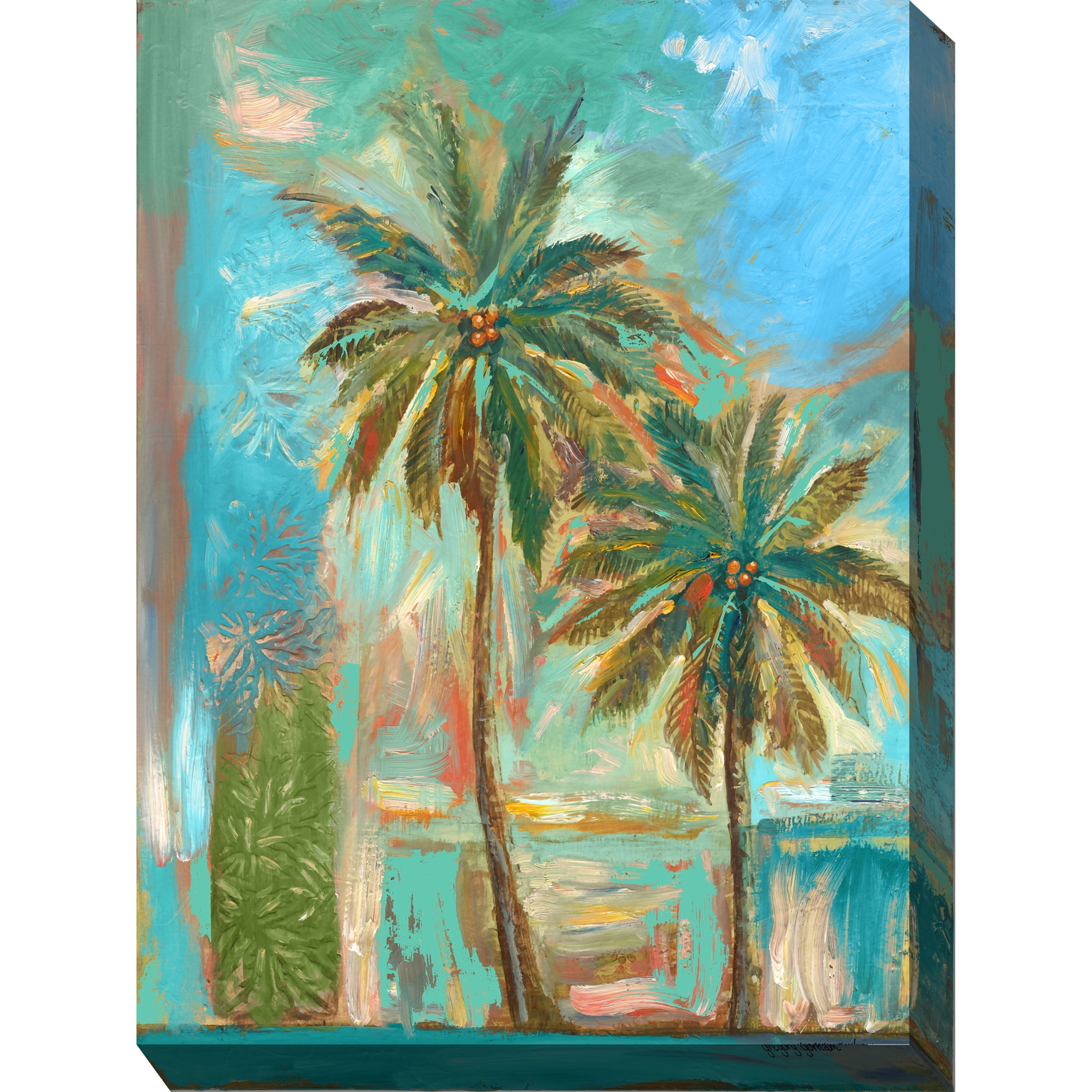 Modern Palms #1 Outdoor Wall Art, MULTI