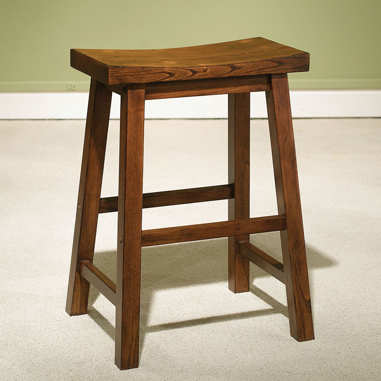 Wood Counter Stool, HONEY BROWN