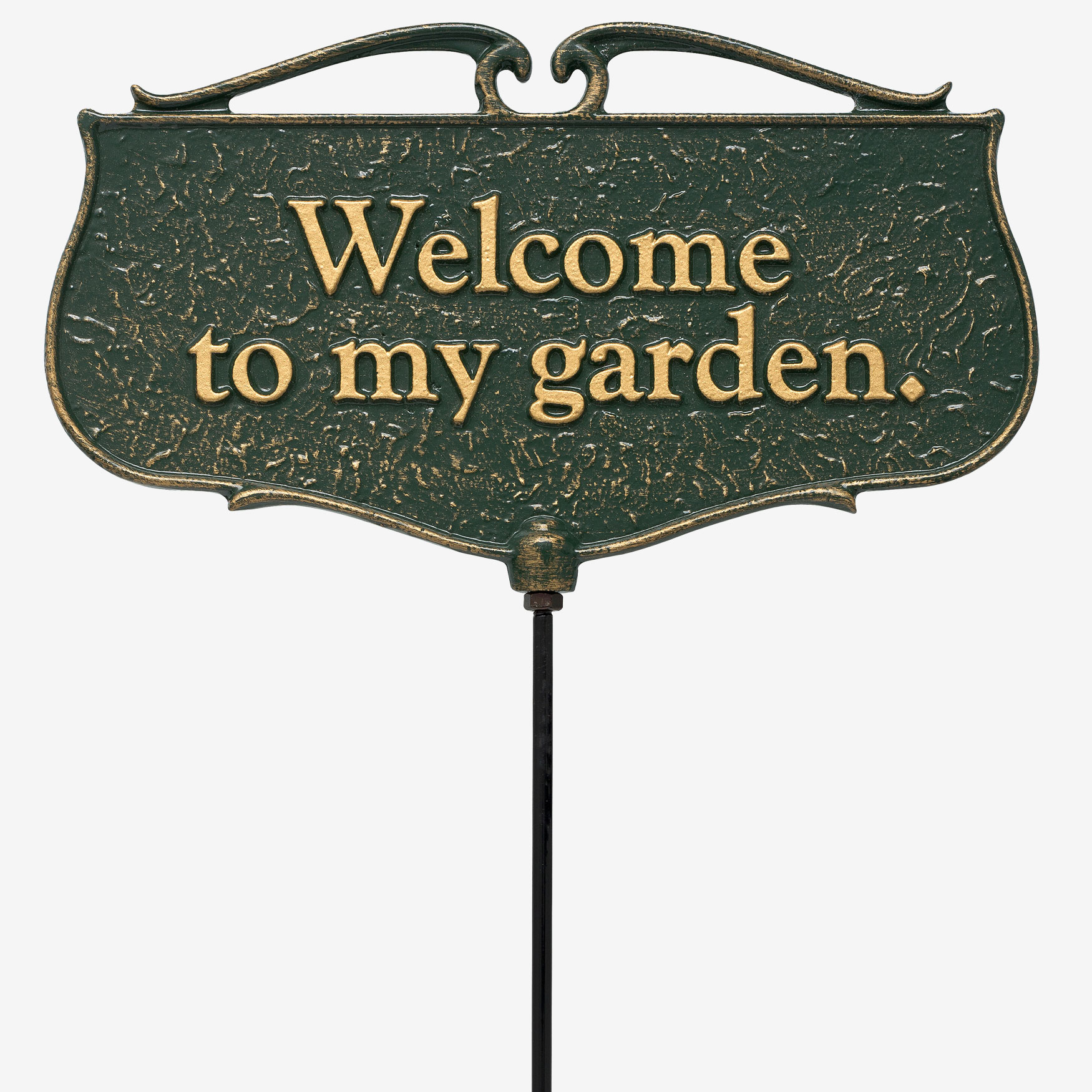 Welcome To My Garden - Garden Sign, GREEN