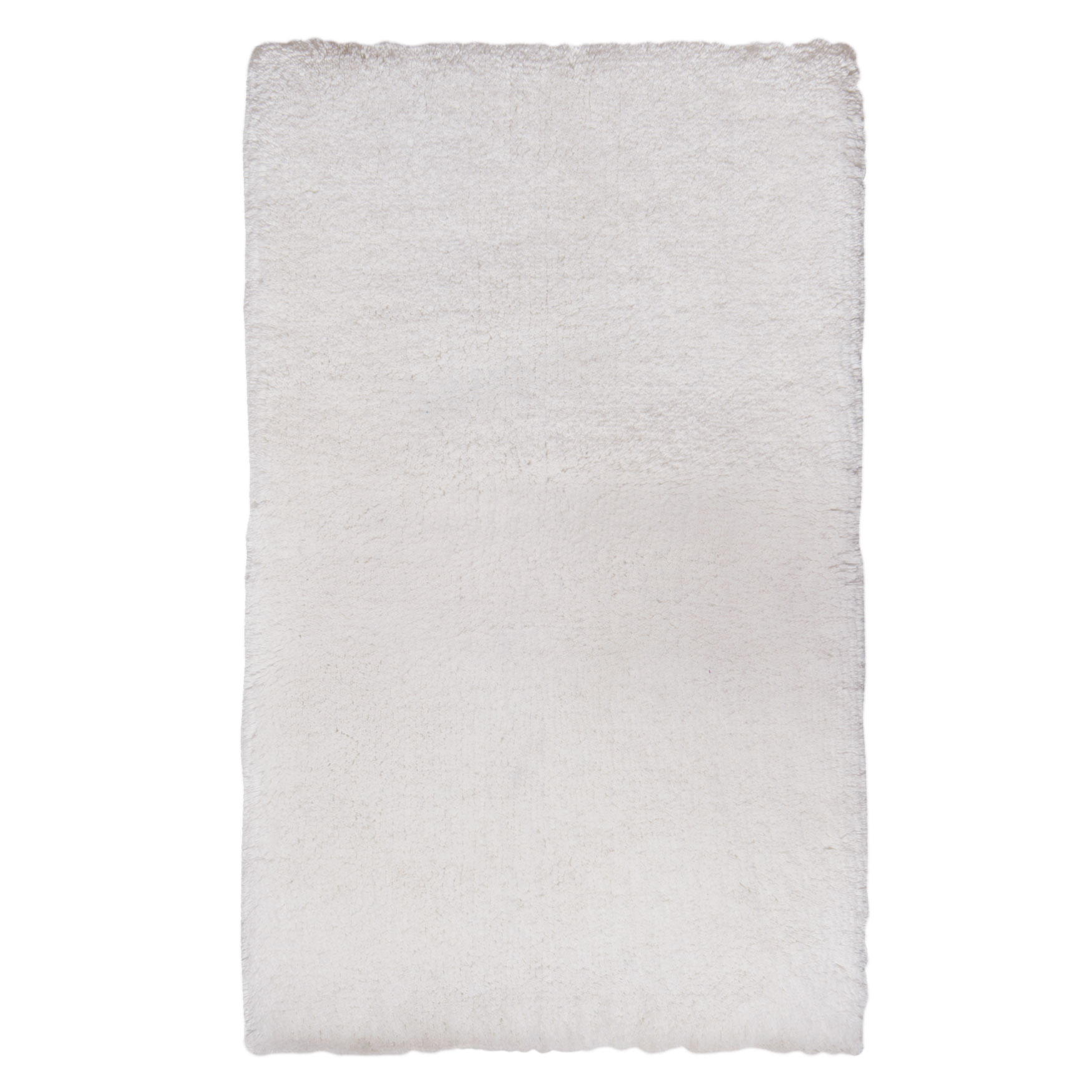Memory Foam Cotton Tufted Bath Mat, WHITE