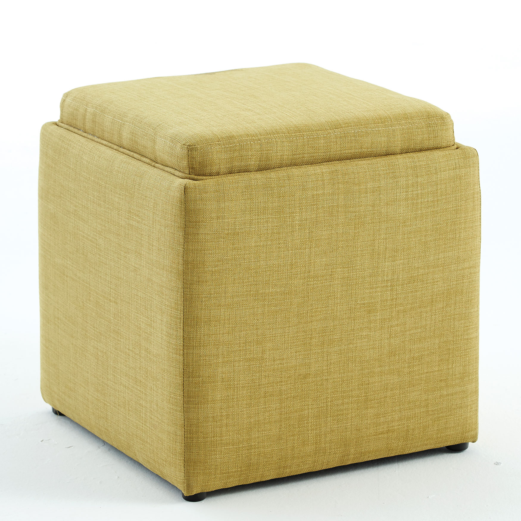 Storage Ottoman with Tray, KIWI