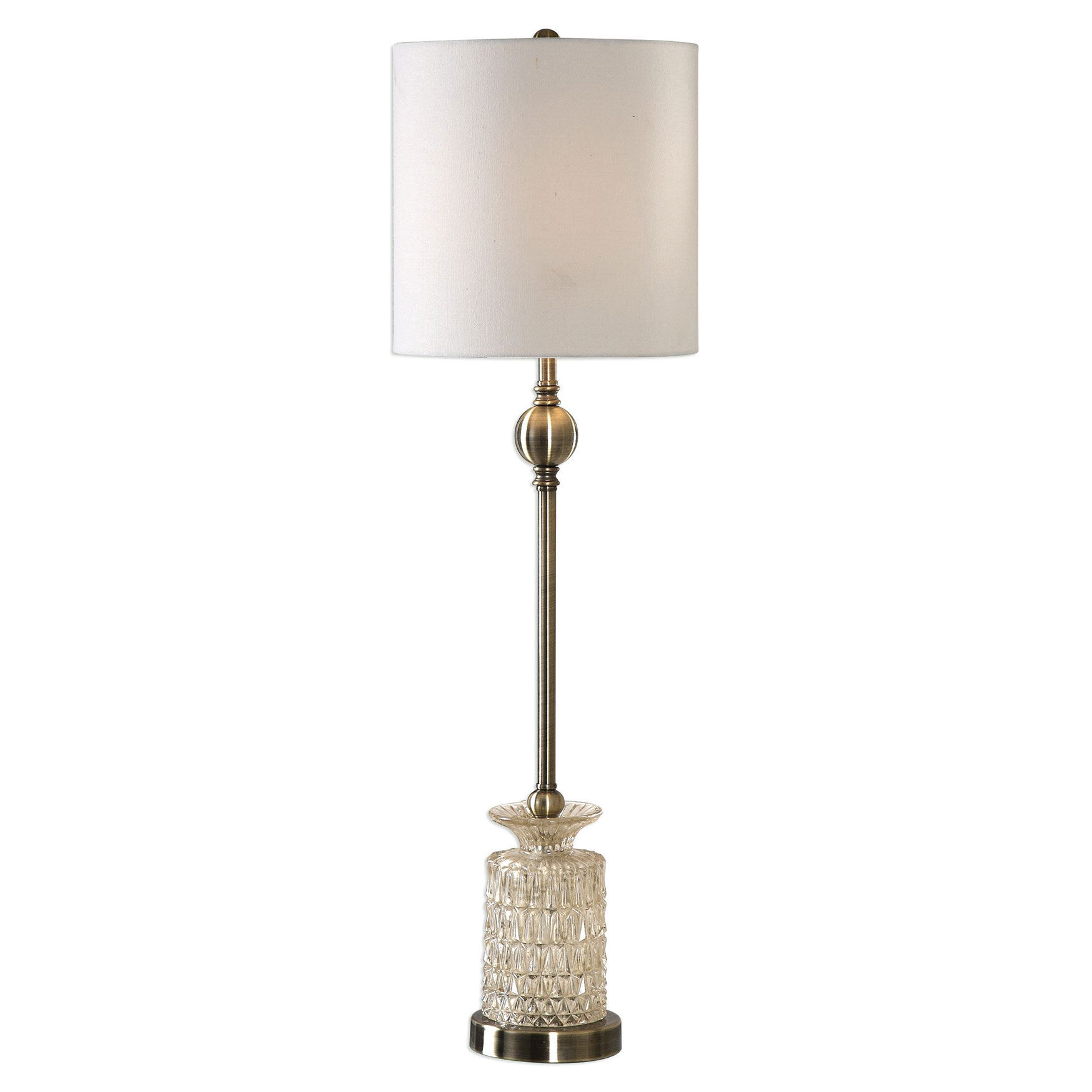 Flaviana Antique Brass Buffet Lamp, CHAMPAGNE