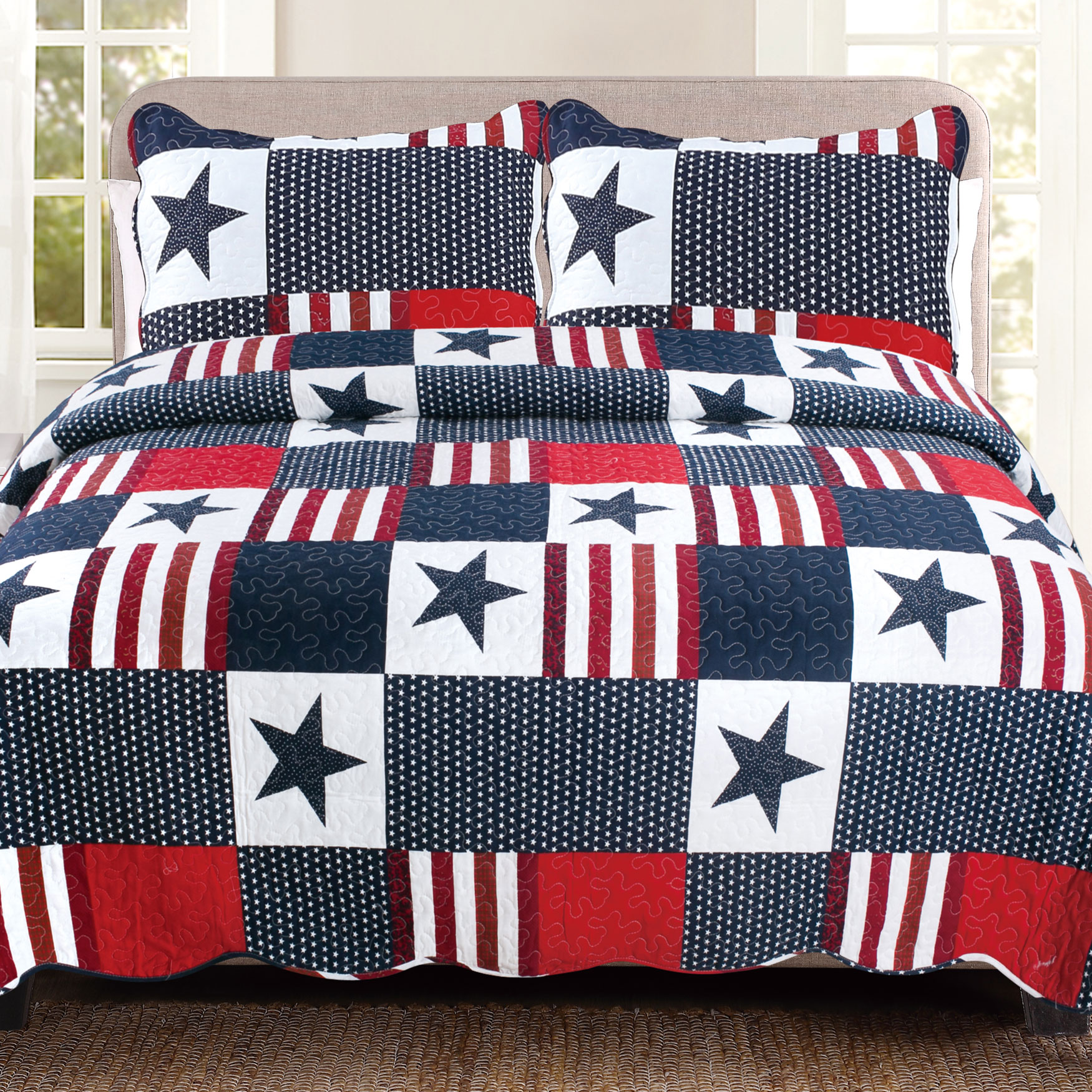 Americana Red, White & Blue Quilt Set,