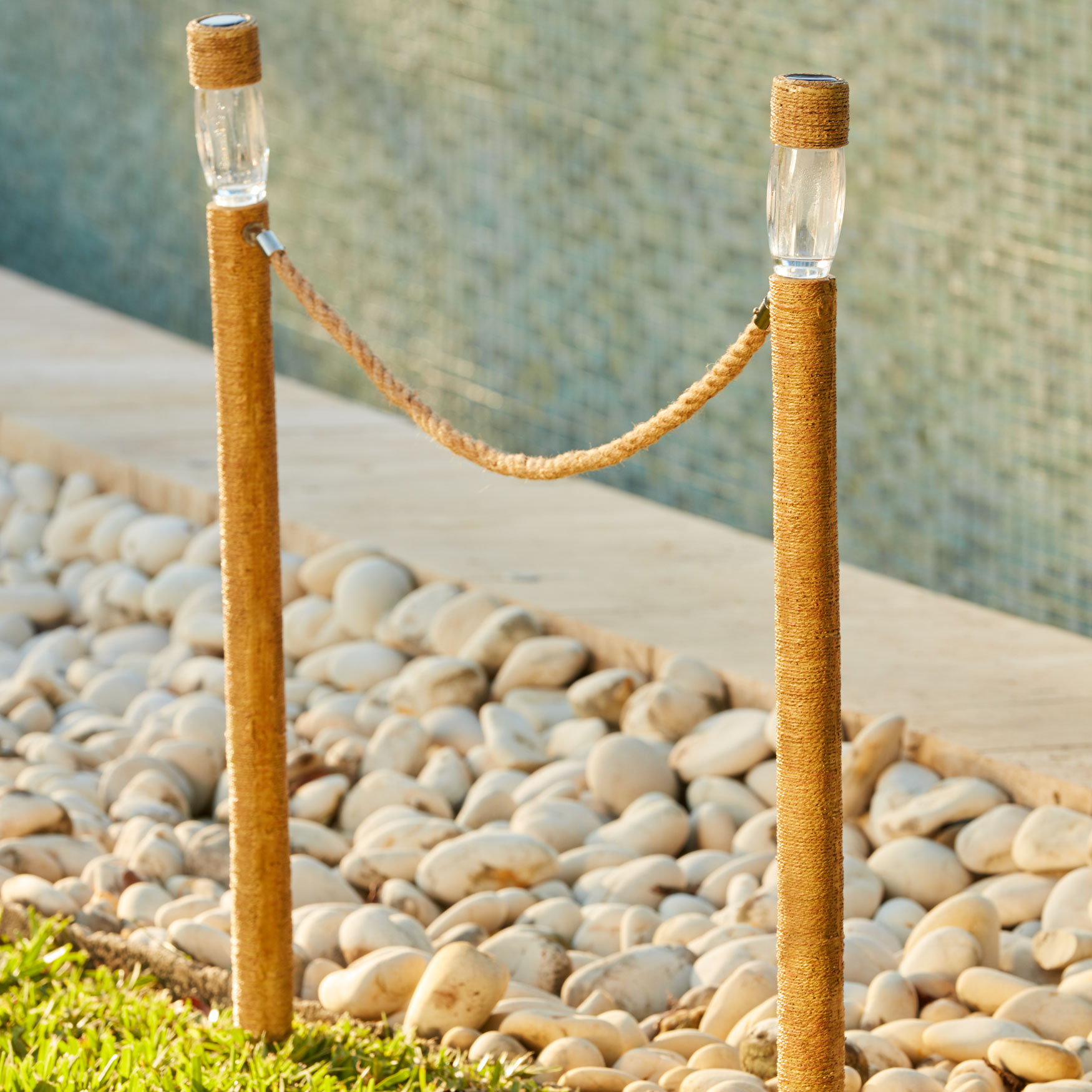 Solar Stake Light, Set of 2, NATURAL