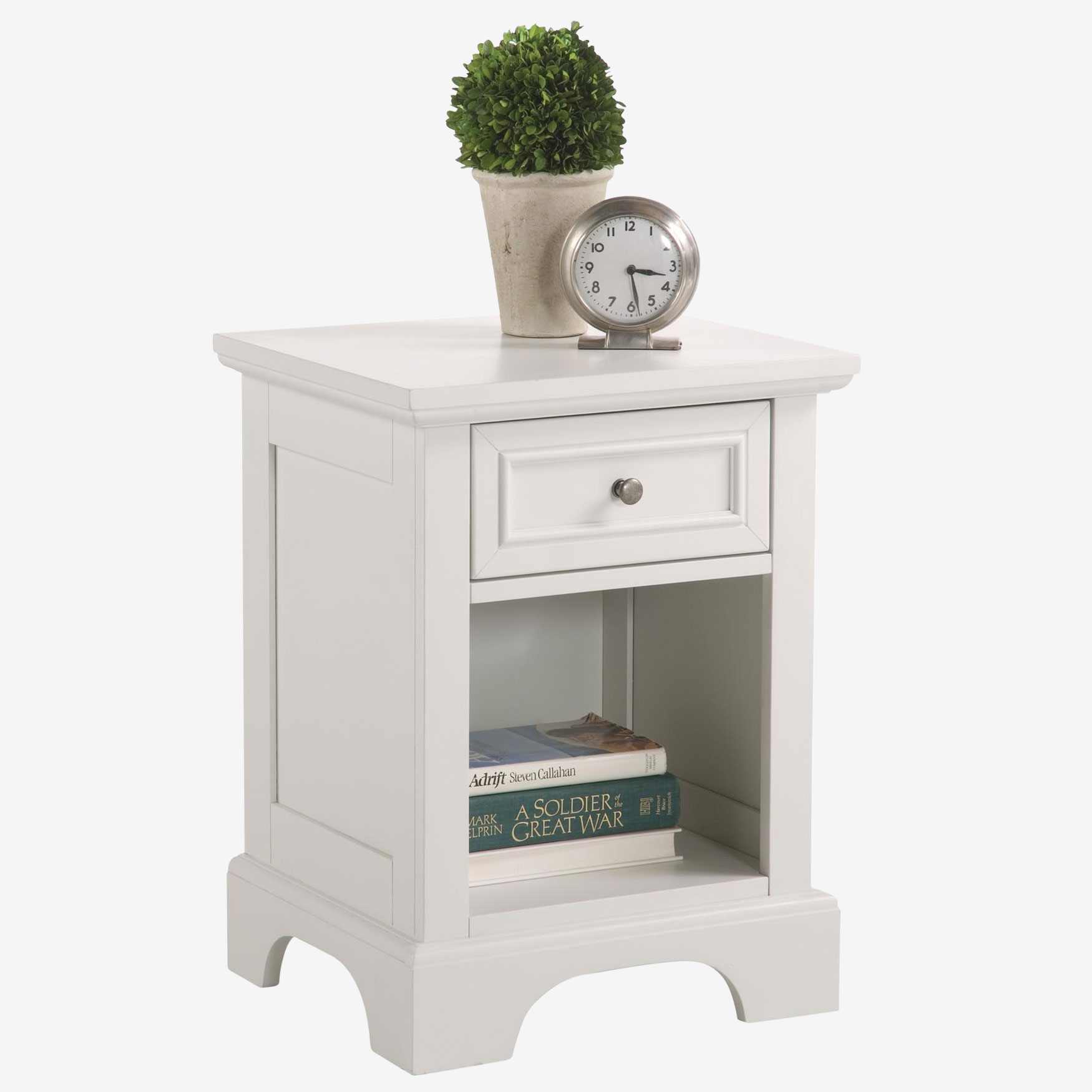 Naples White Night Stand, WHITE