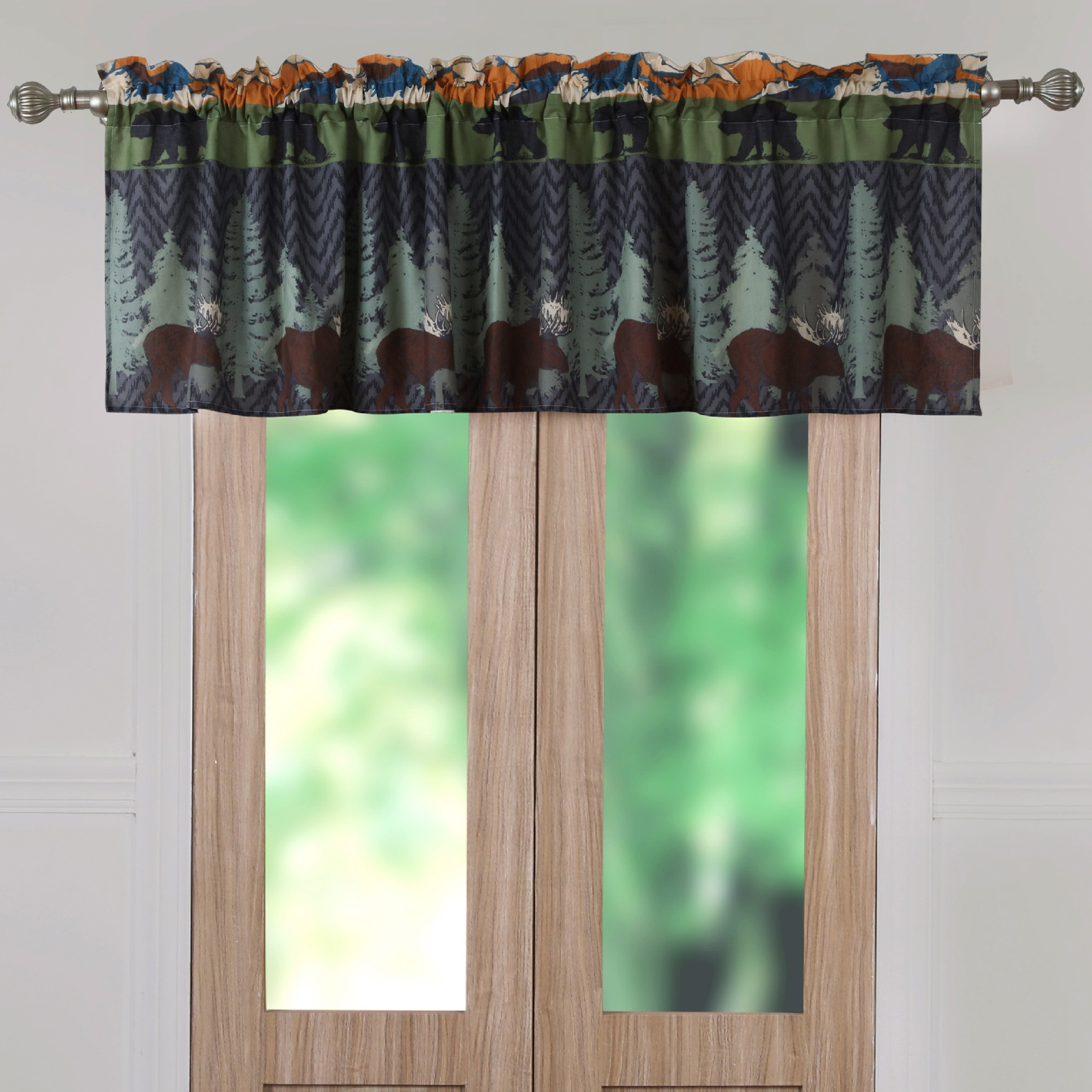 Black Bear Lodge Window Valance by Greenland Home Fashions, MULTI