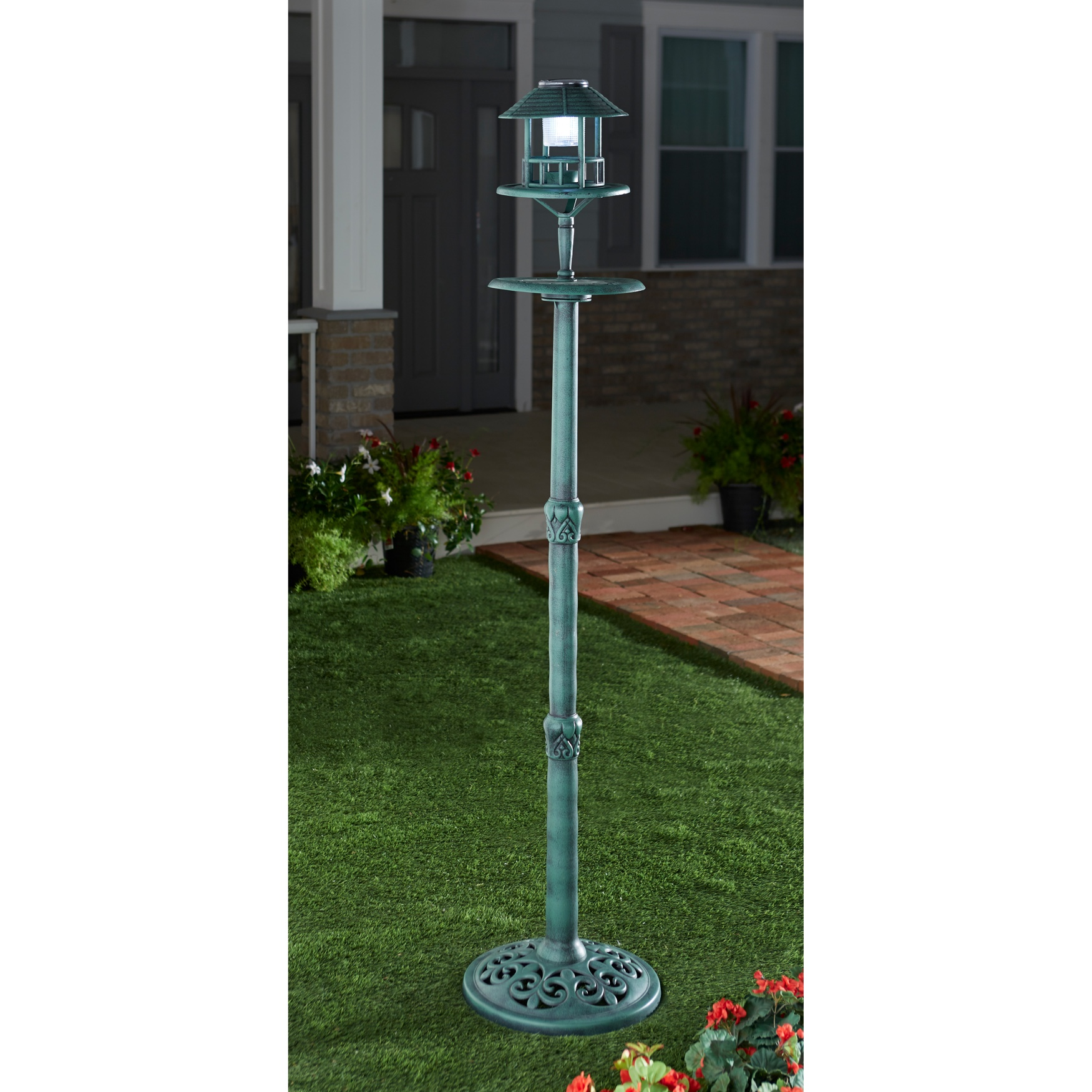 Tall Bird Feeder, GREEN