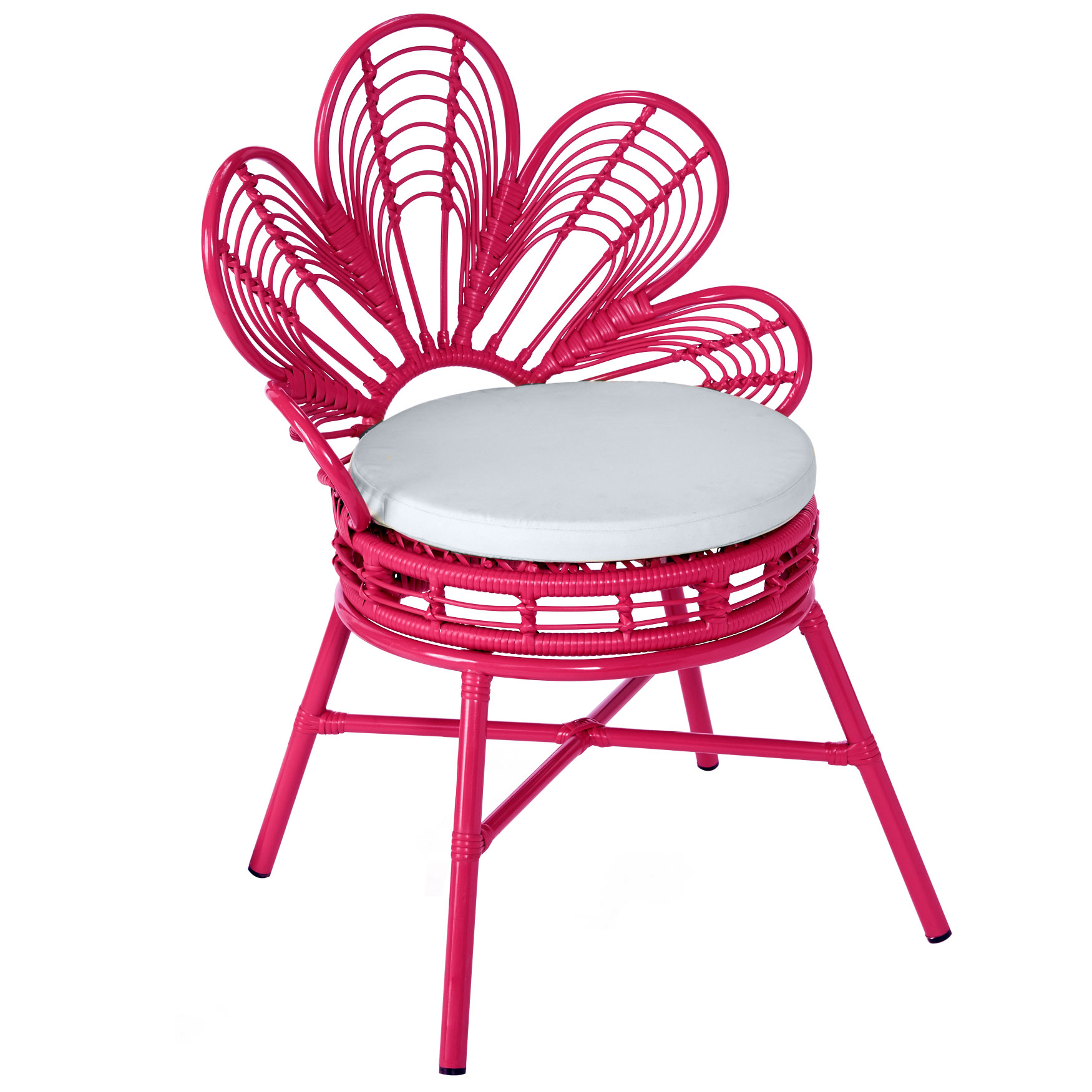 All-Weather Flower Chair, PINK