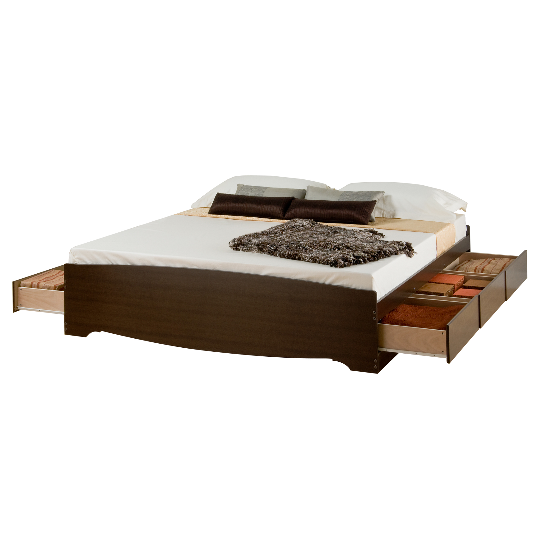 Prepac Fremont Espresso King Platform Storage Bed (6-drawers) , ESPRESSO
